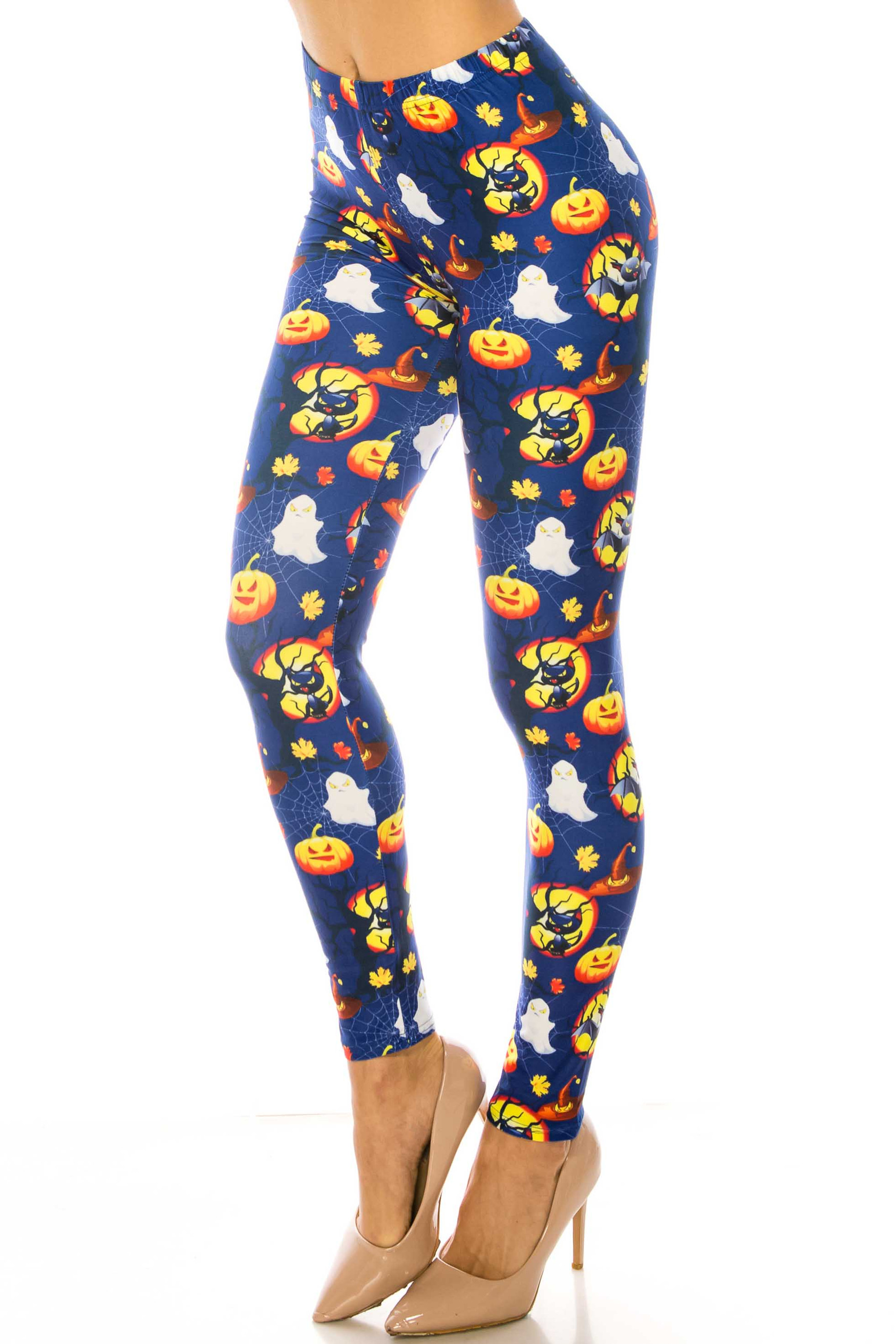 Wholesale Creamy Soft Halloween Critters Extra Plus Size Leggings - 3X-5X - USA Fashion™