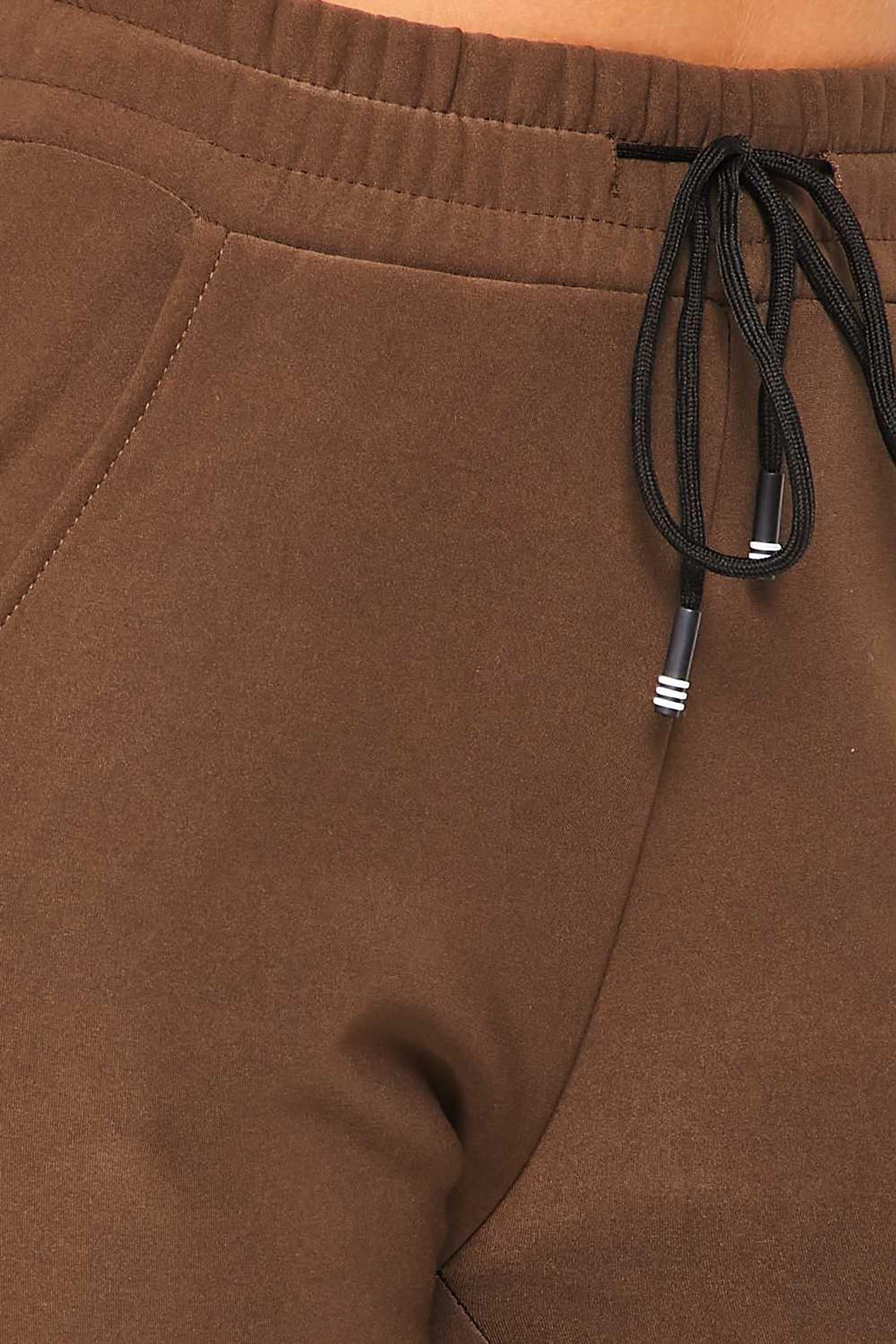 Solid Fur Lined Jogger Pocket Zipper & Drawstring