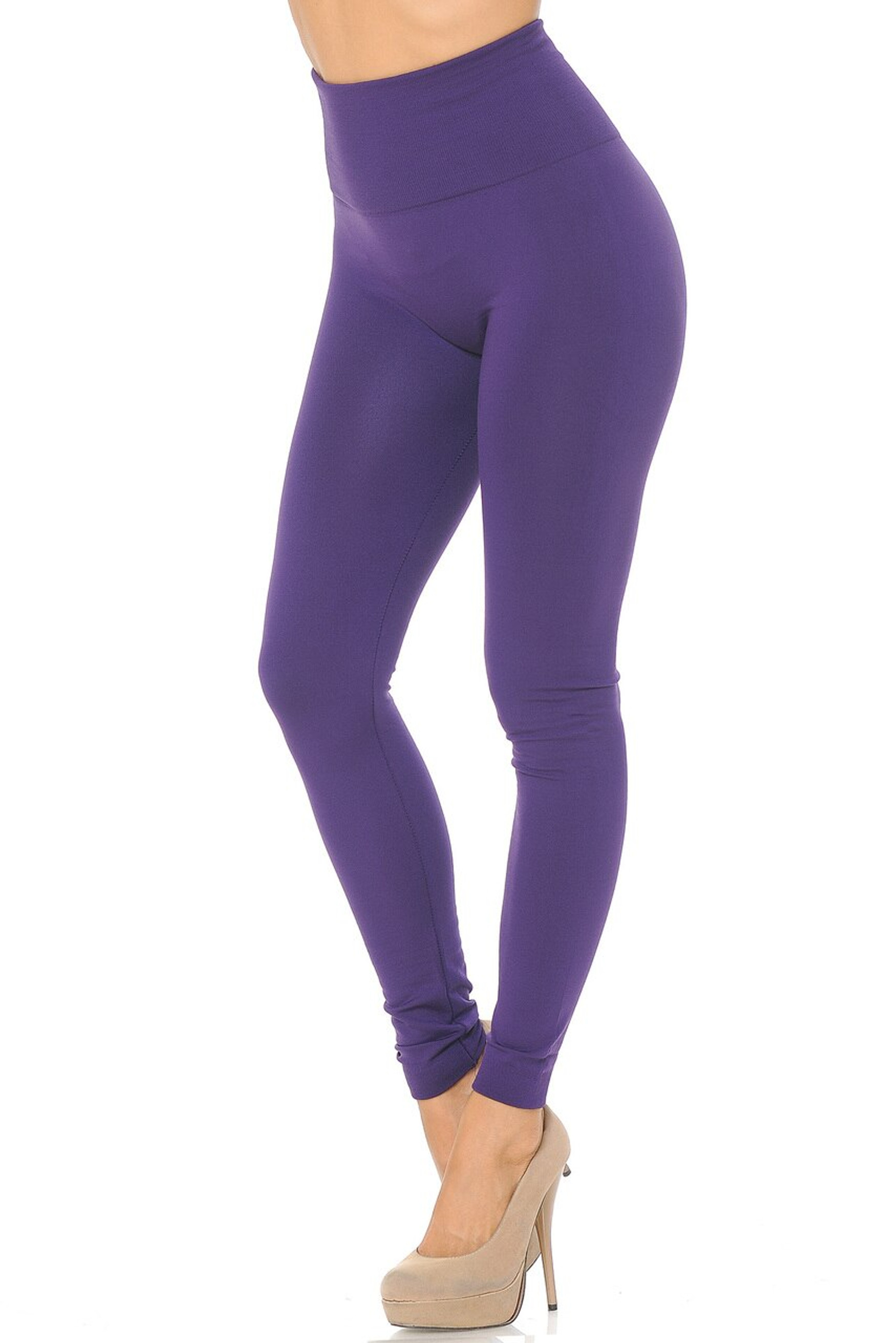 High Waisted Fleece Lined Plus Size Leggings - New Mix