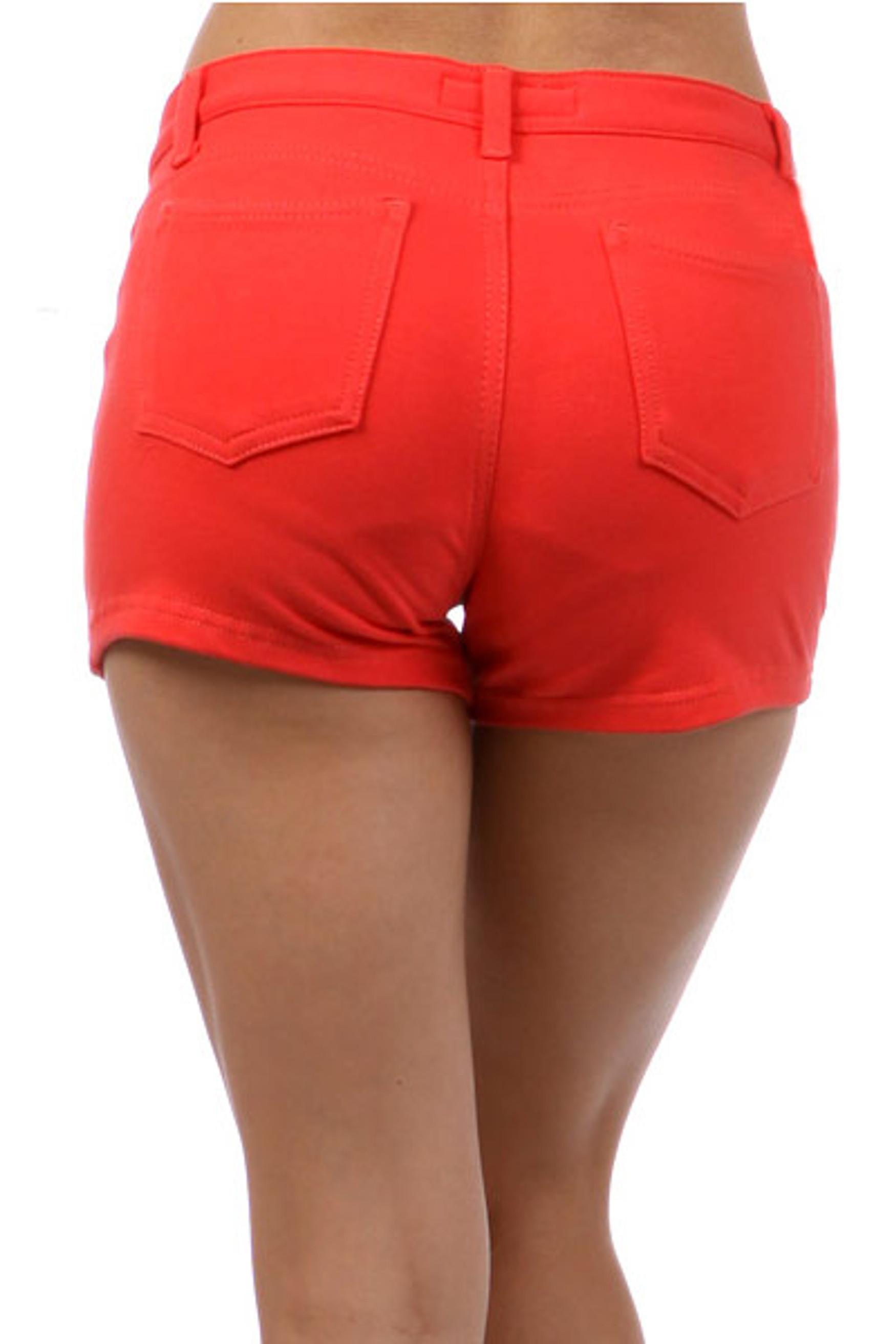 Coral Signature Cotton Shorts