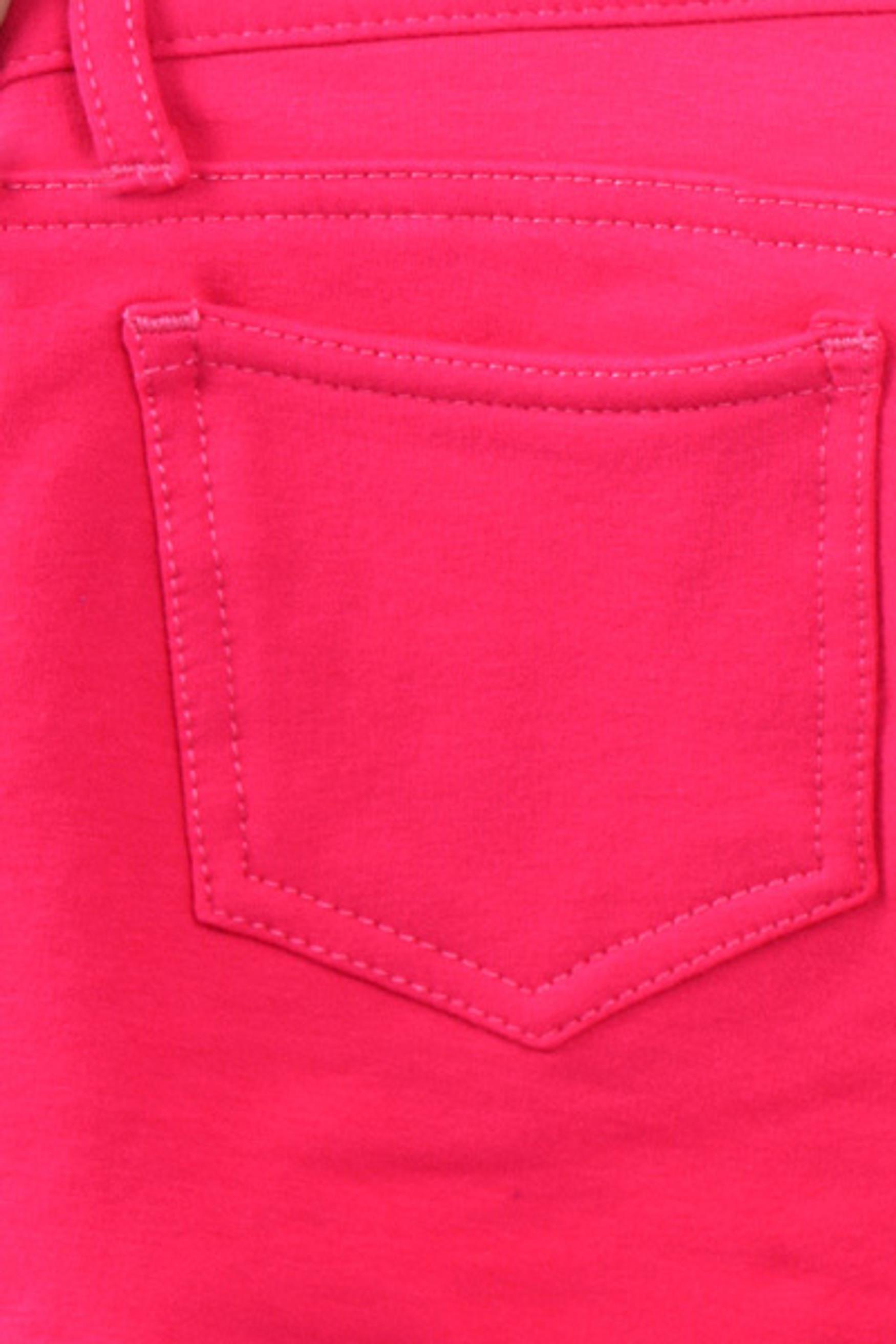 Fuchsia Signature Cotton Shorts