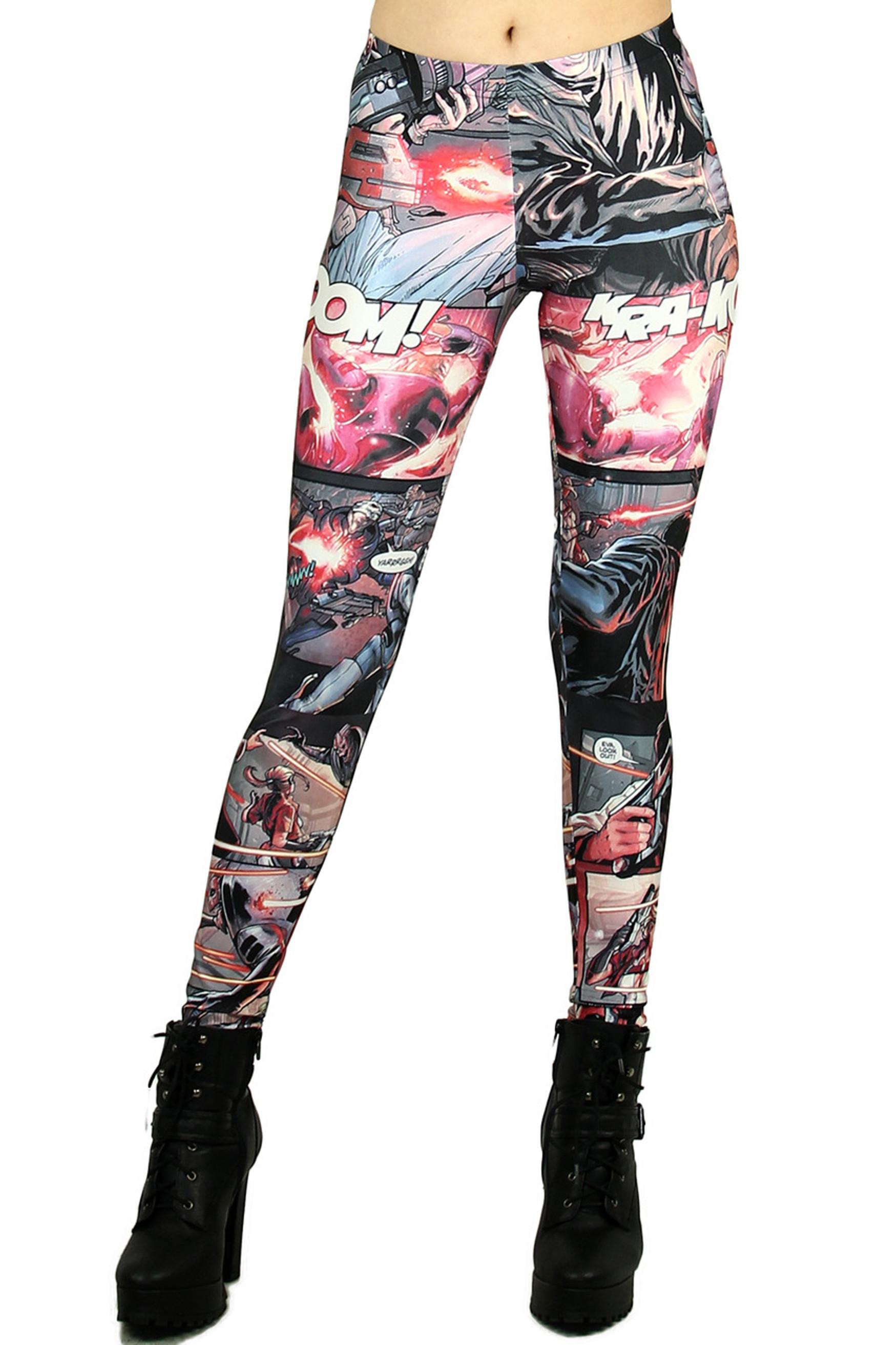 Superhero Cartoon Leggings