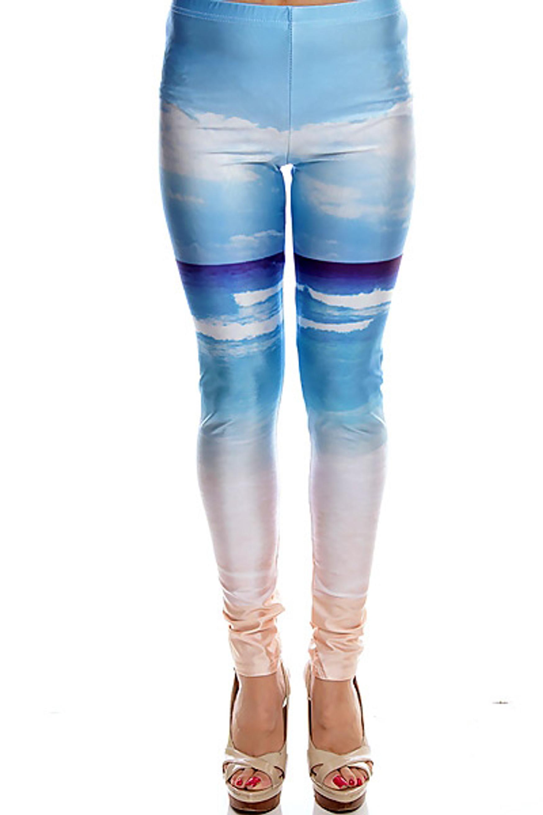 Cool Blue Seashore Leggings
