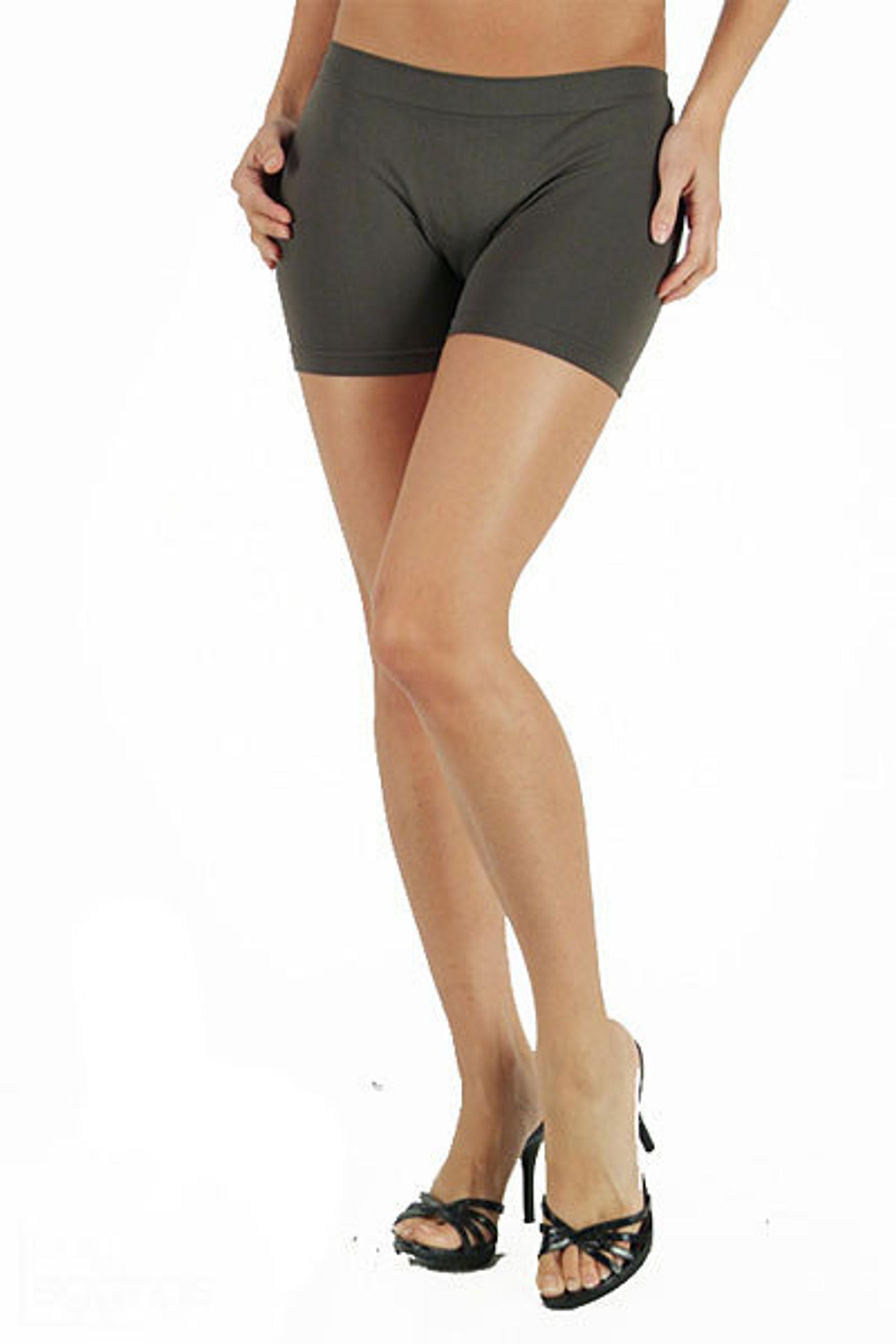Nylon Spandex Shorts - Plus Size
