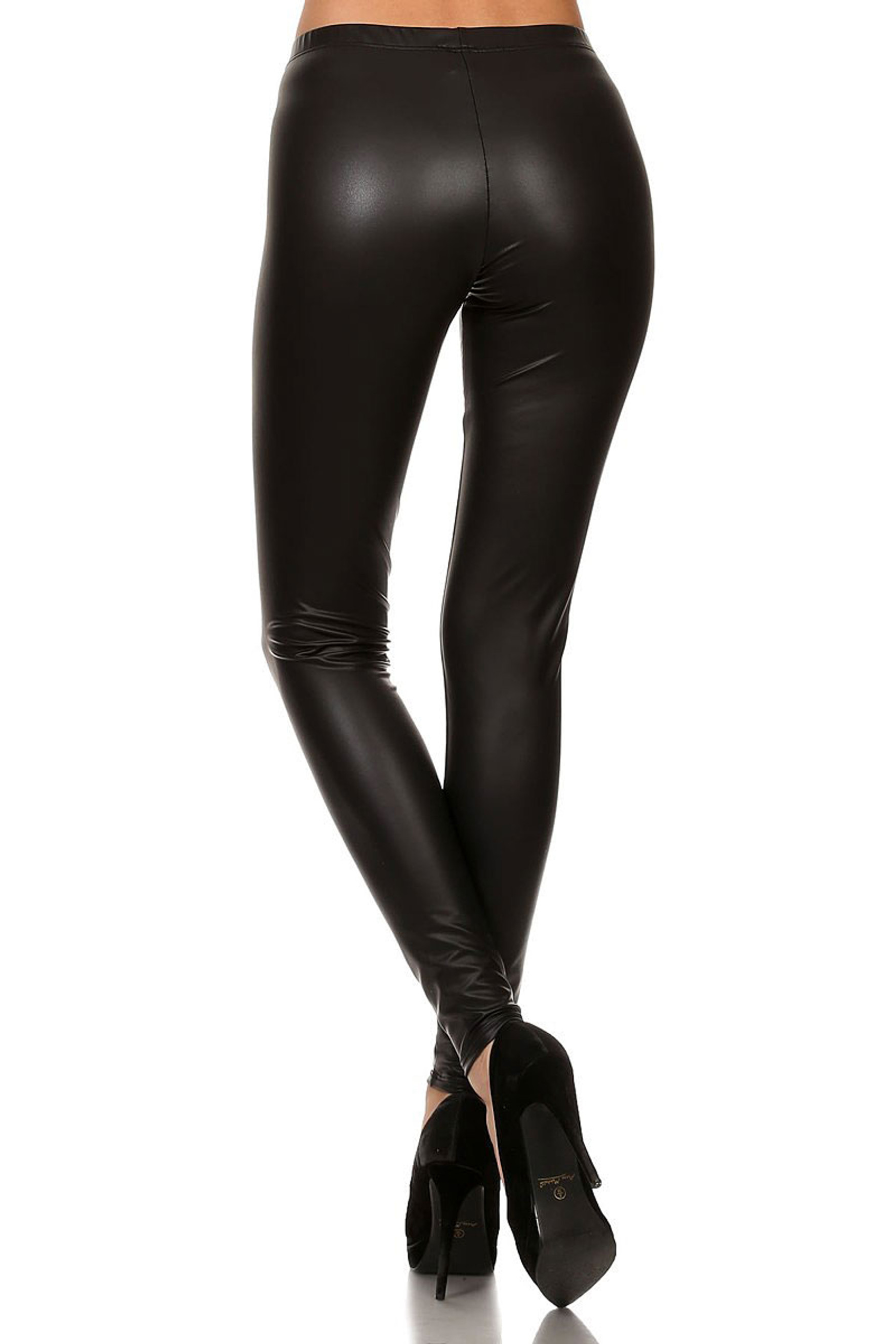 Matte Faux Leather Leggings