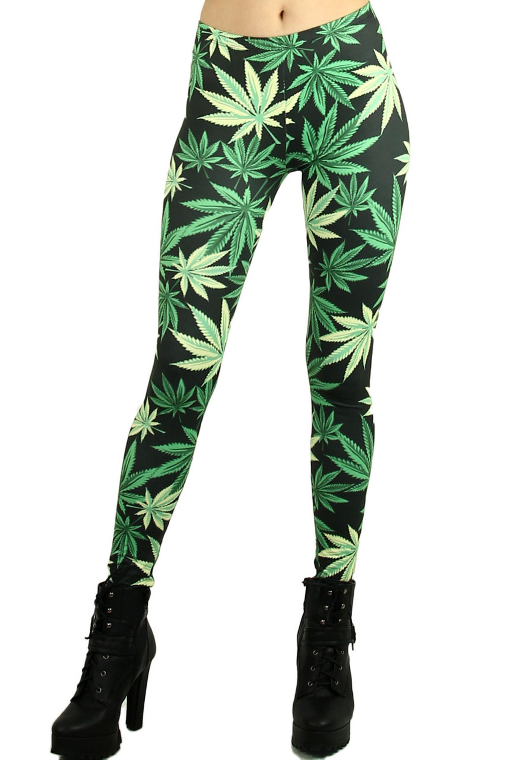 Weed Leaf Leggings