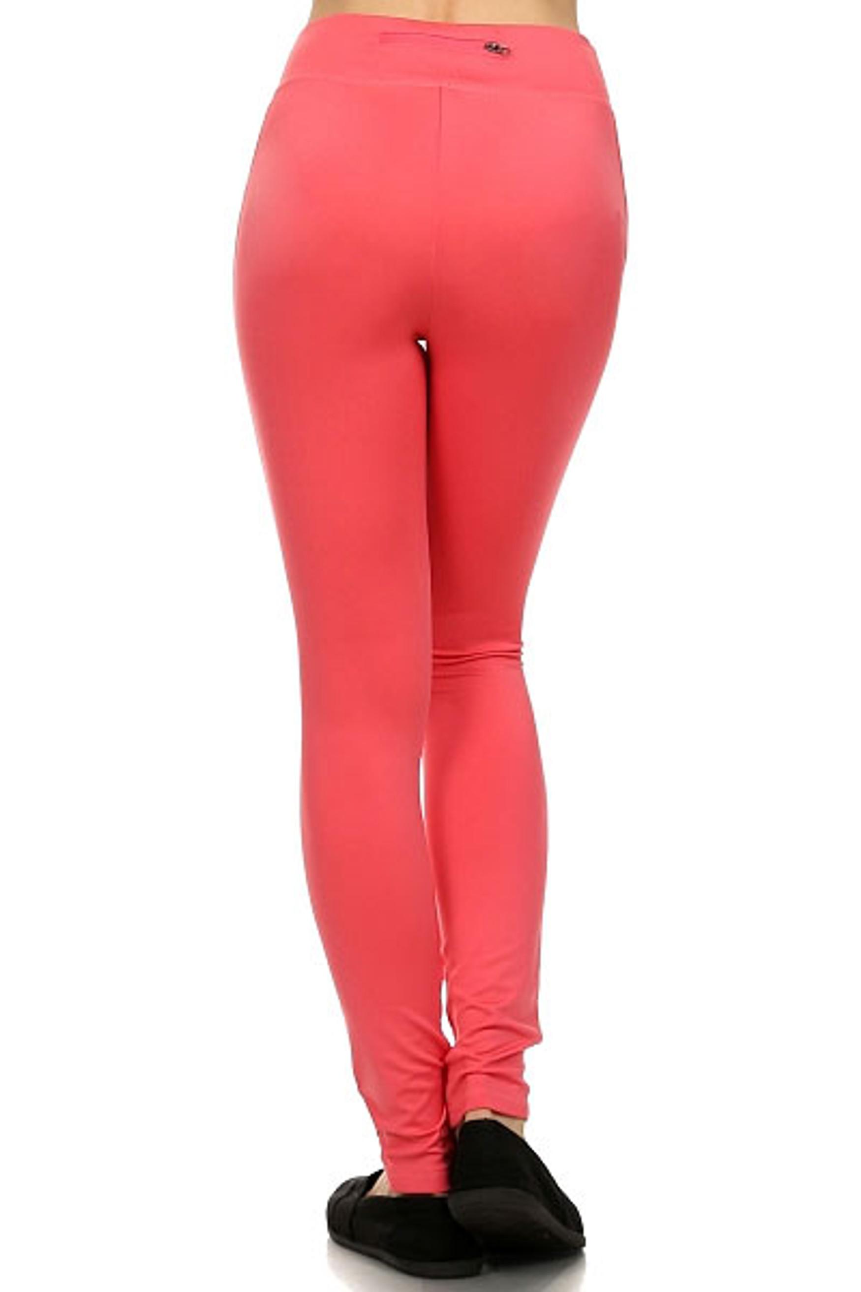 Back Pocket Zipper Fitness Leggings