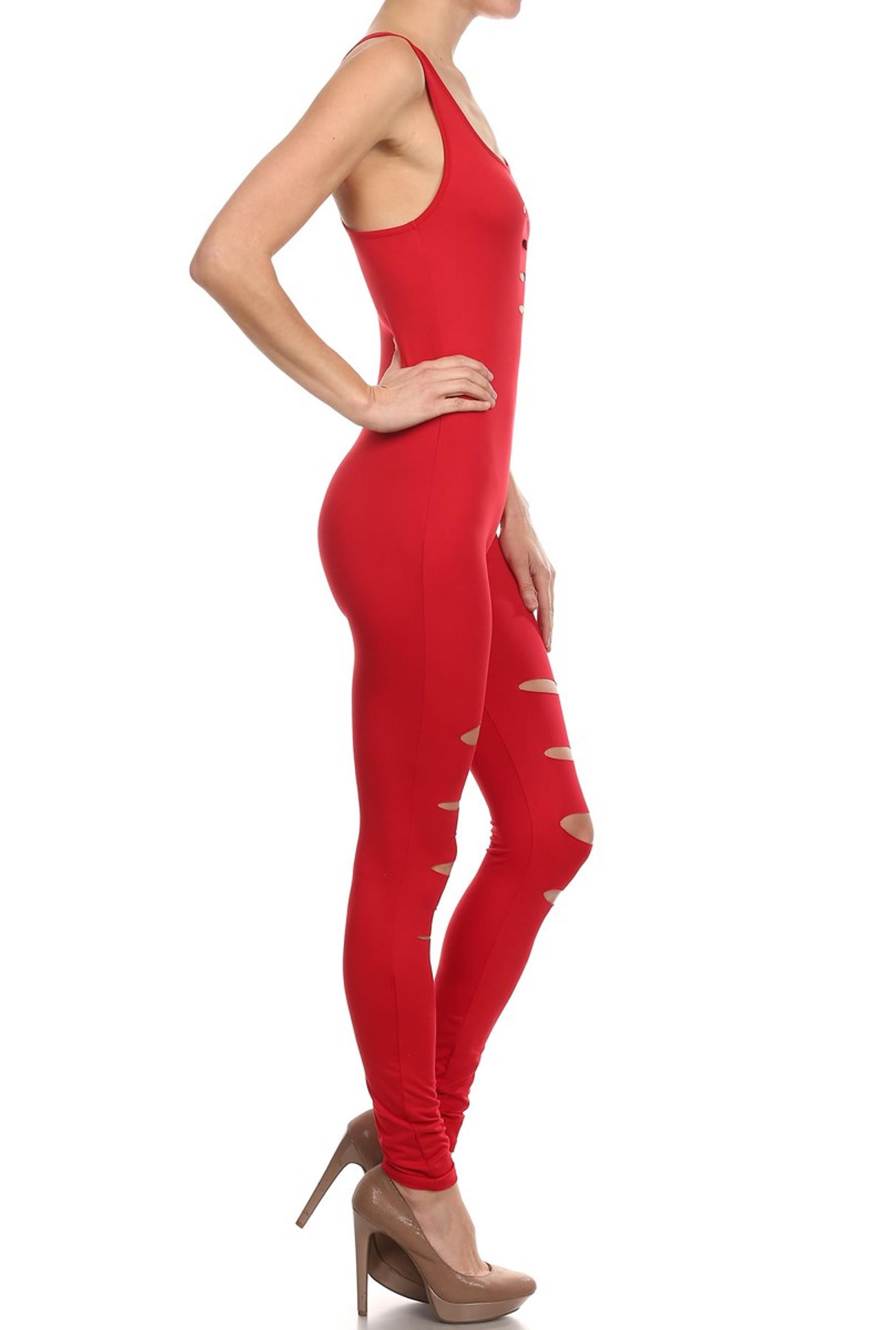 Slashed Basic Diva Jumpsuit