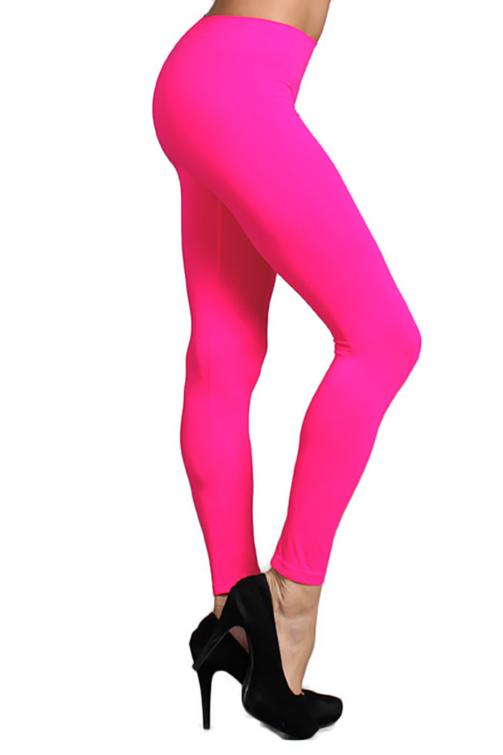 Full Length Neon Nylon Spandex Leggings