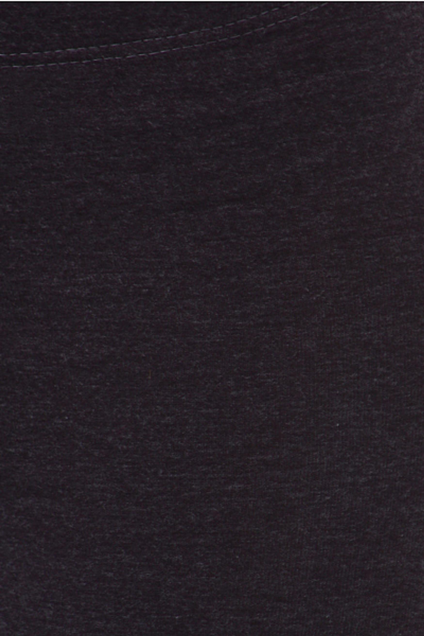 Close up fabric swatch of black USA Cotton Capri Length Leggings