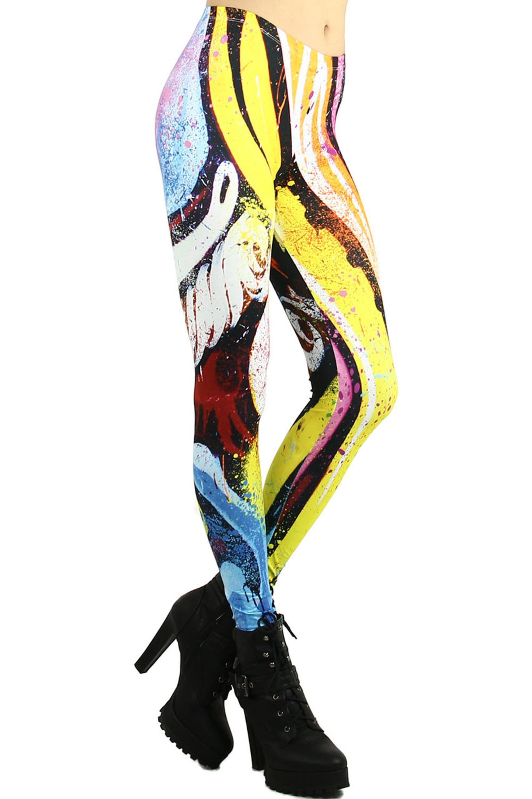 Graffiti Paint Stroke Leggings