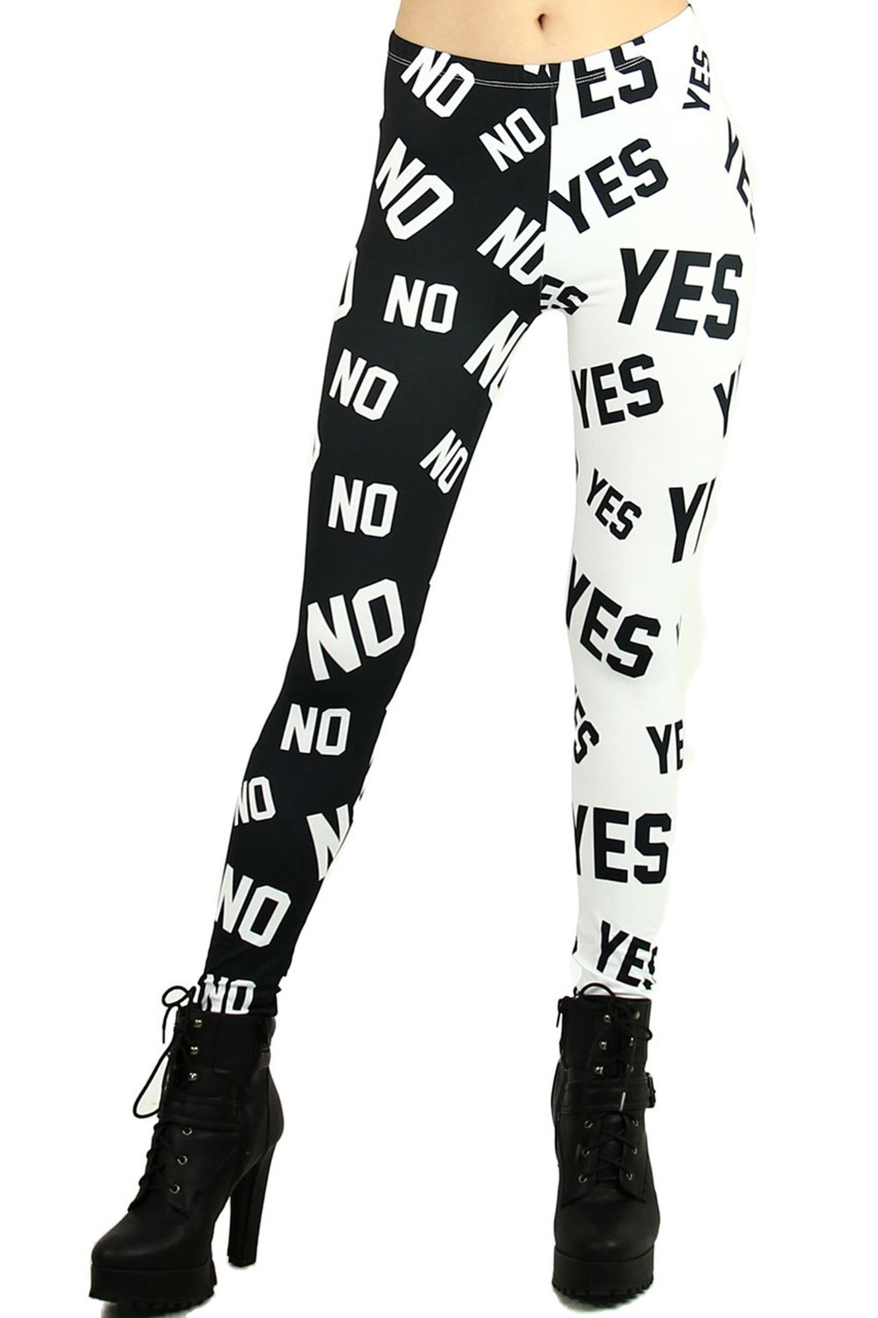 Split Yes and No Leggings