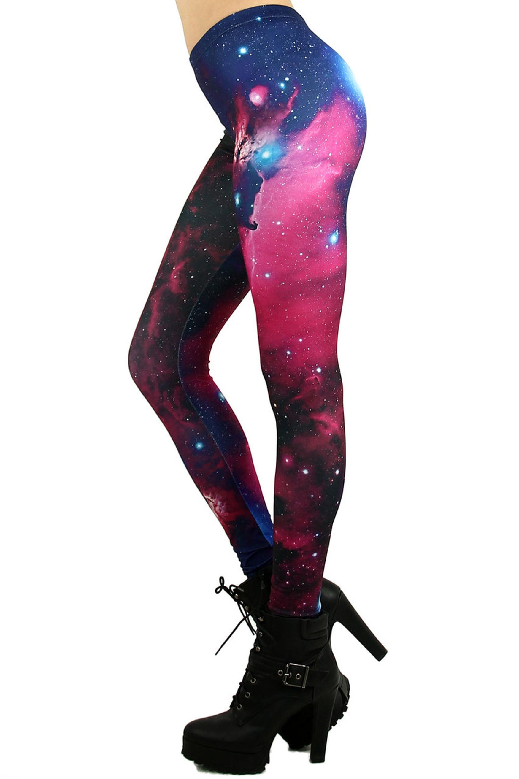 Fuchsia Galaxy Leggings