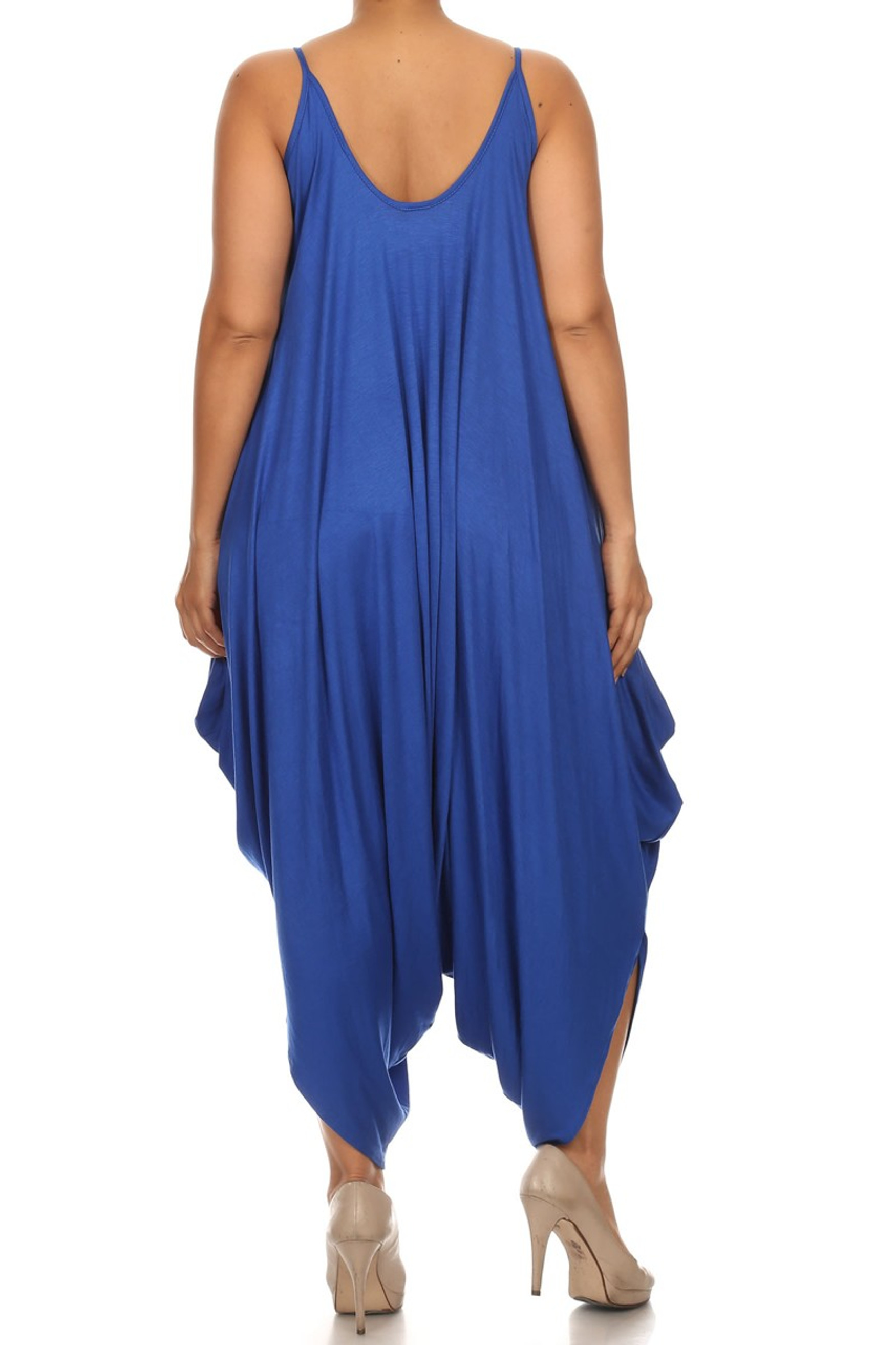 Blue Bohemian Harem Jumpsuit - Plus Size