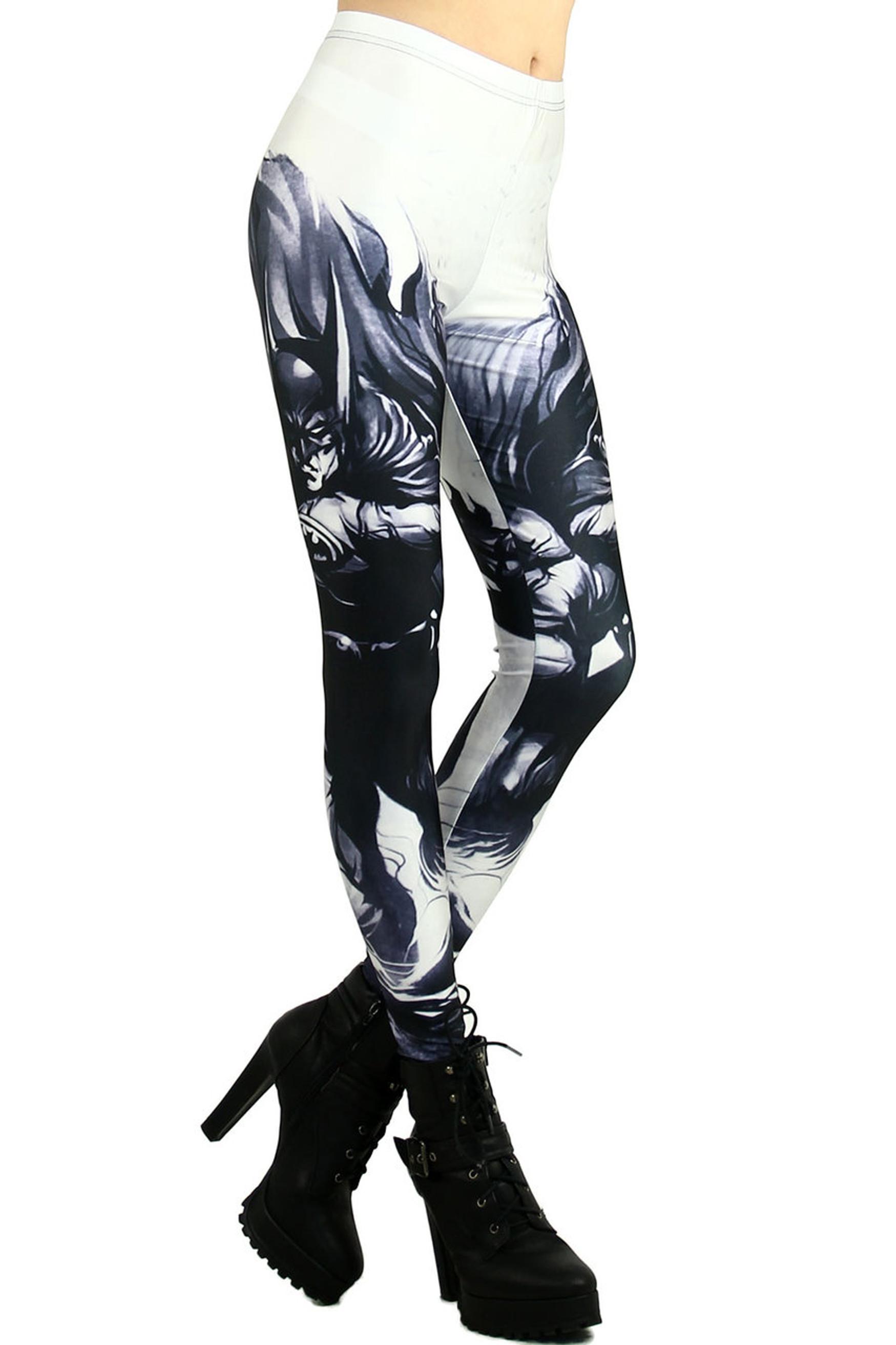 White Gotham Leggings - Plus Size