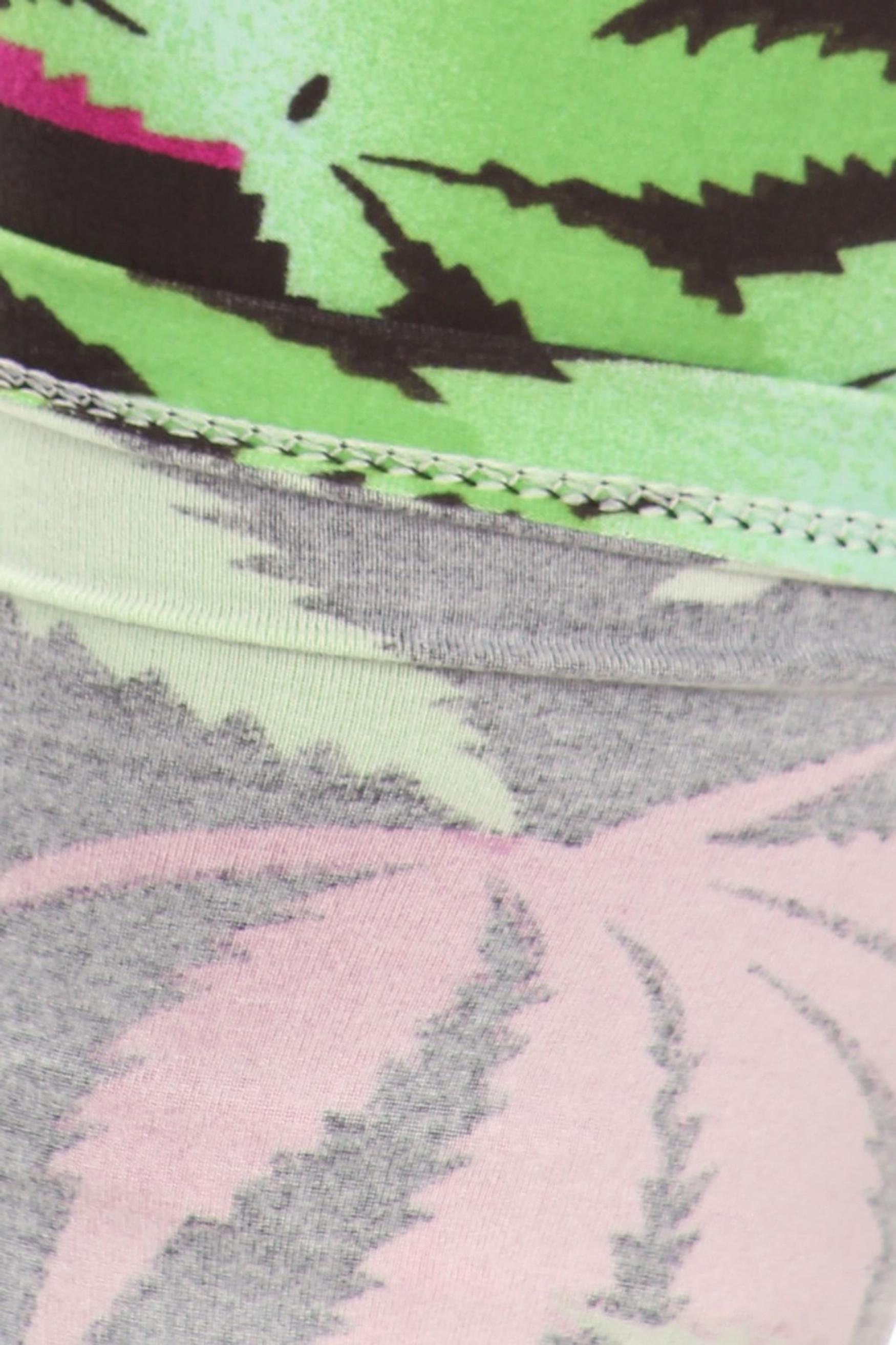 Fuchsia Marijuana Leaf Leggings - Plus Size