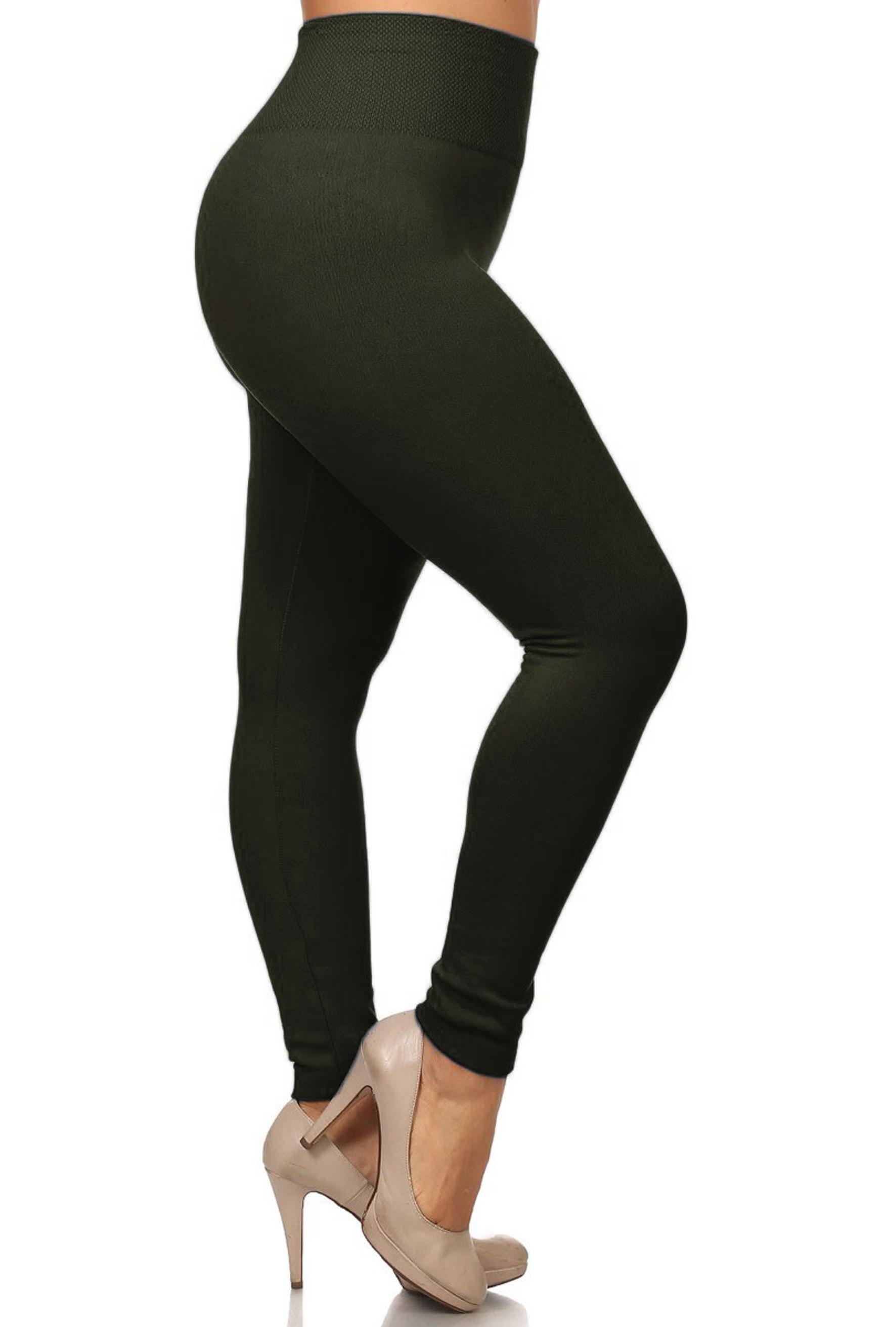 High Waist Thick Fleece Lined Plus Size Leggings
