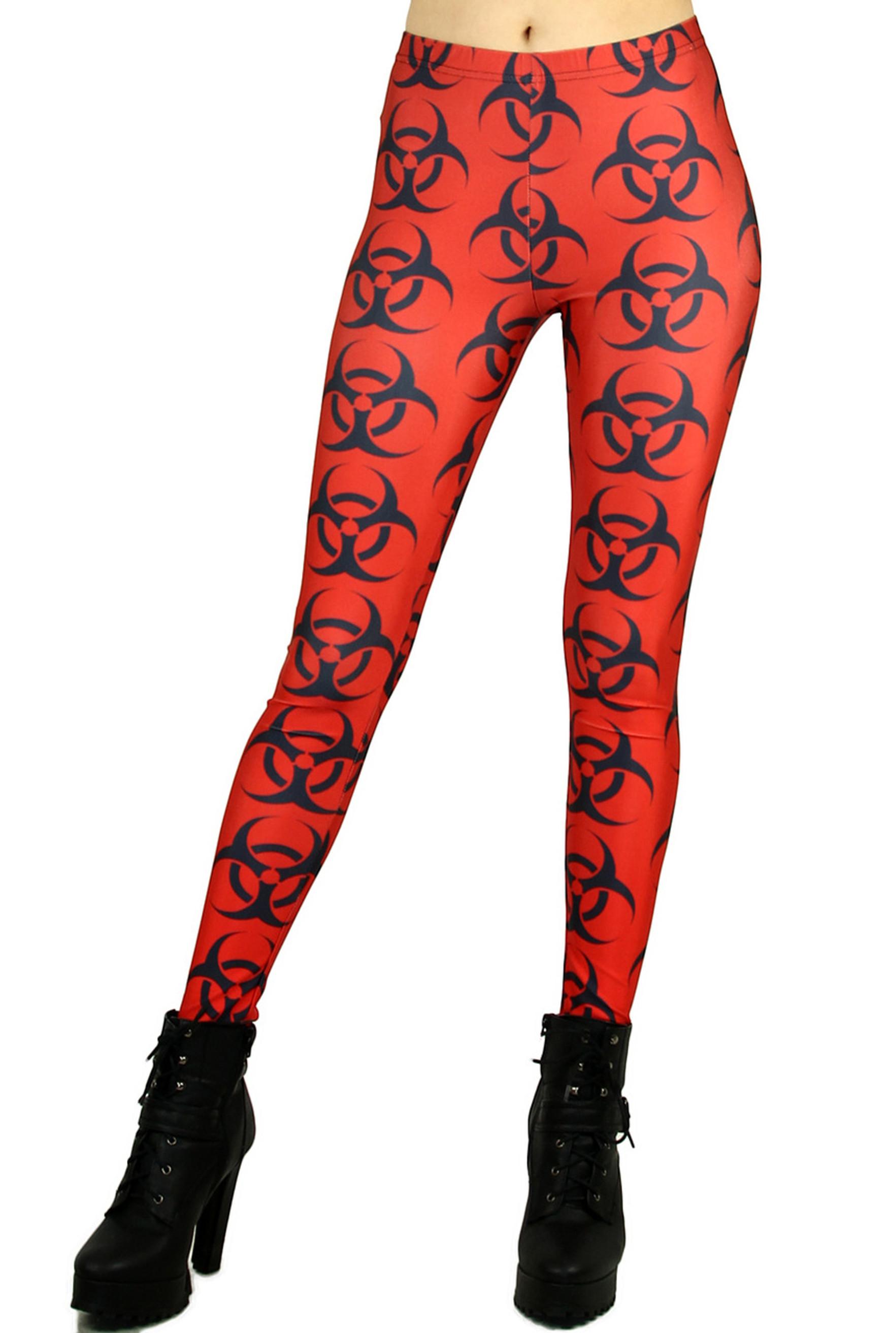 Red Bio Hazard Leggings