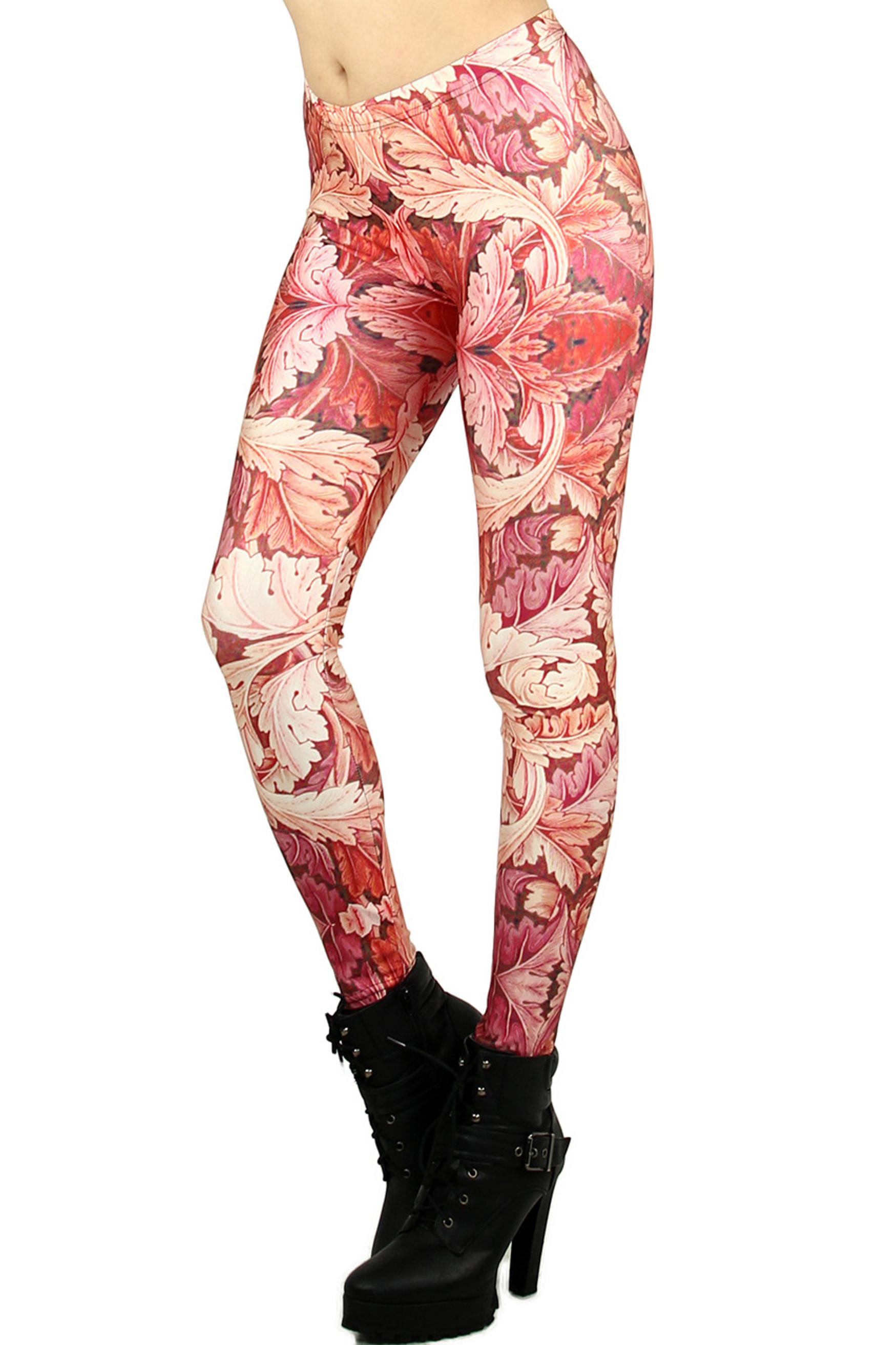 Red Leaf Leggings