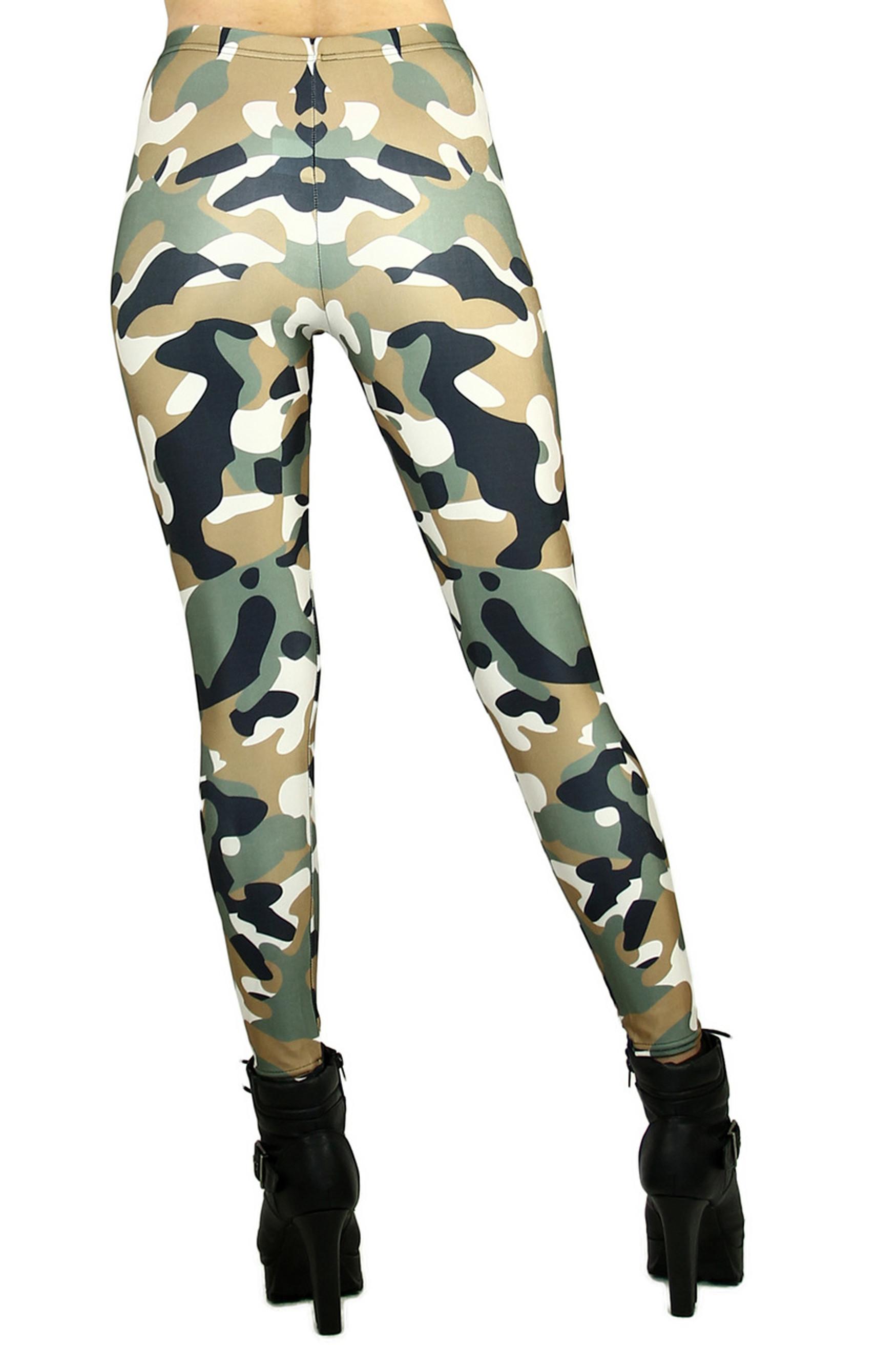 Incognito Camouflage Leggings - Plus Size