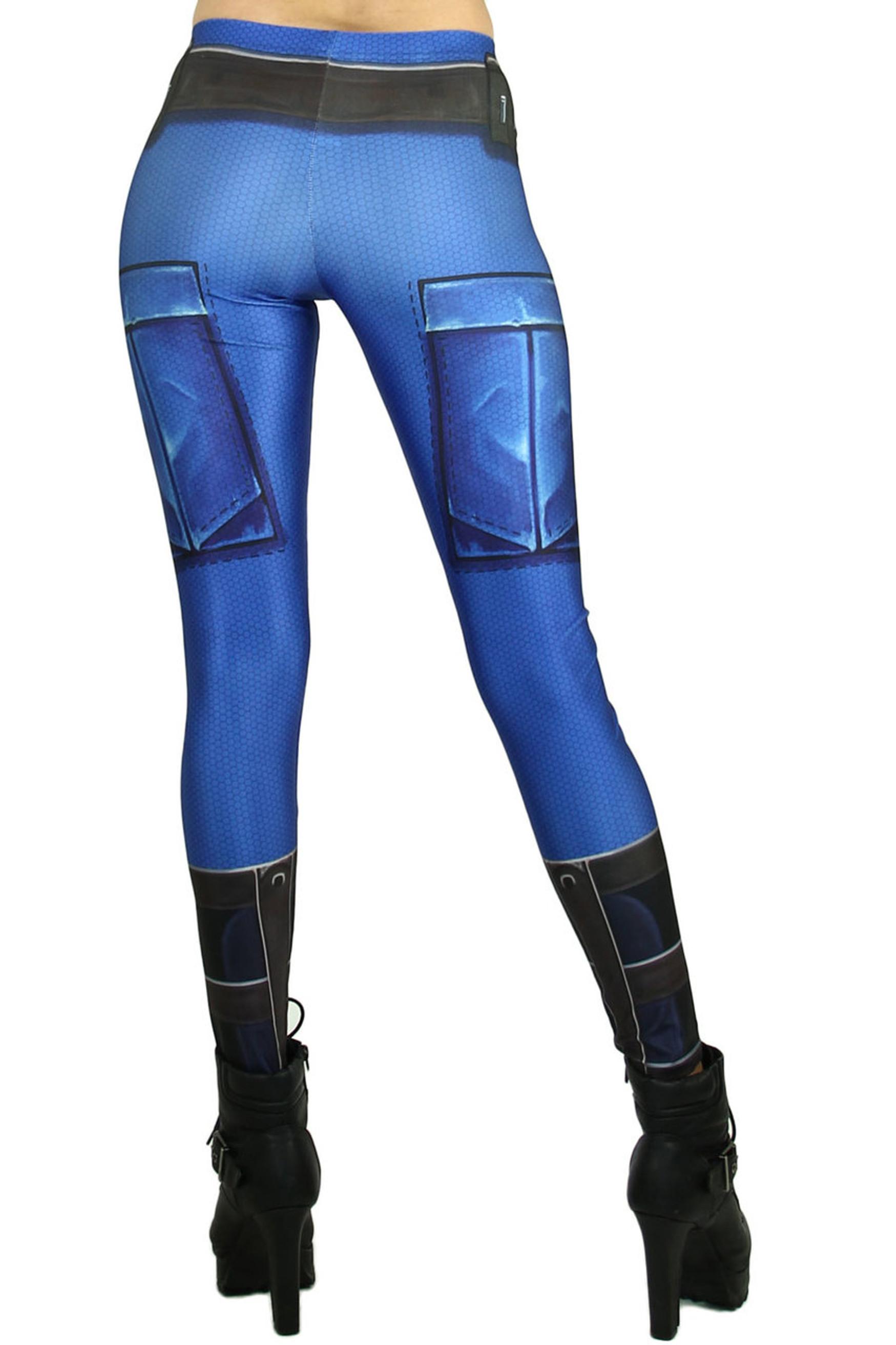 Blue Belted Armor Leggings