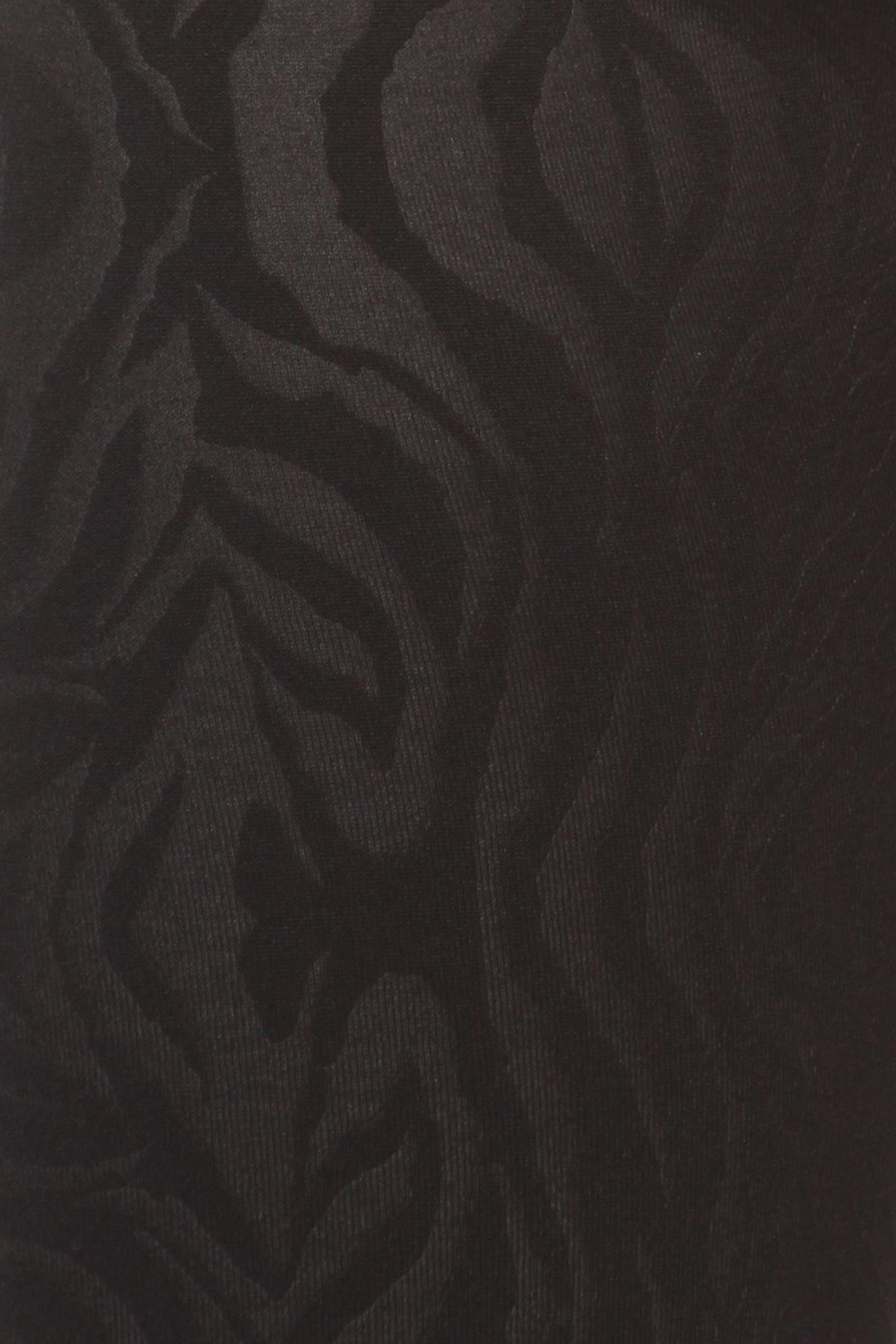 Zebra Embossed Fleece Lined Leggings