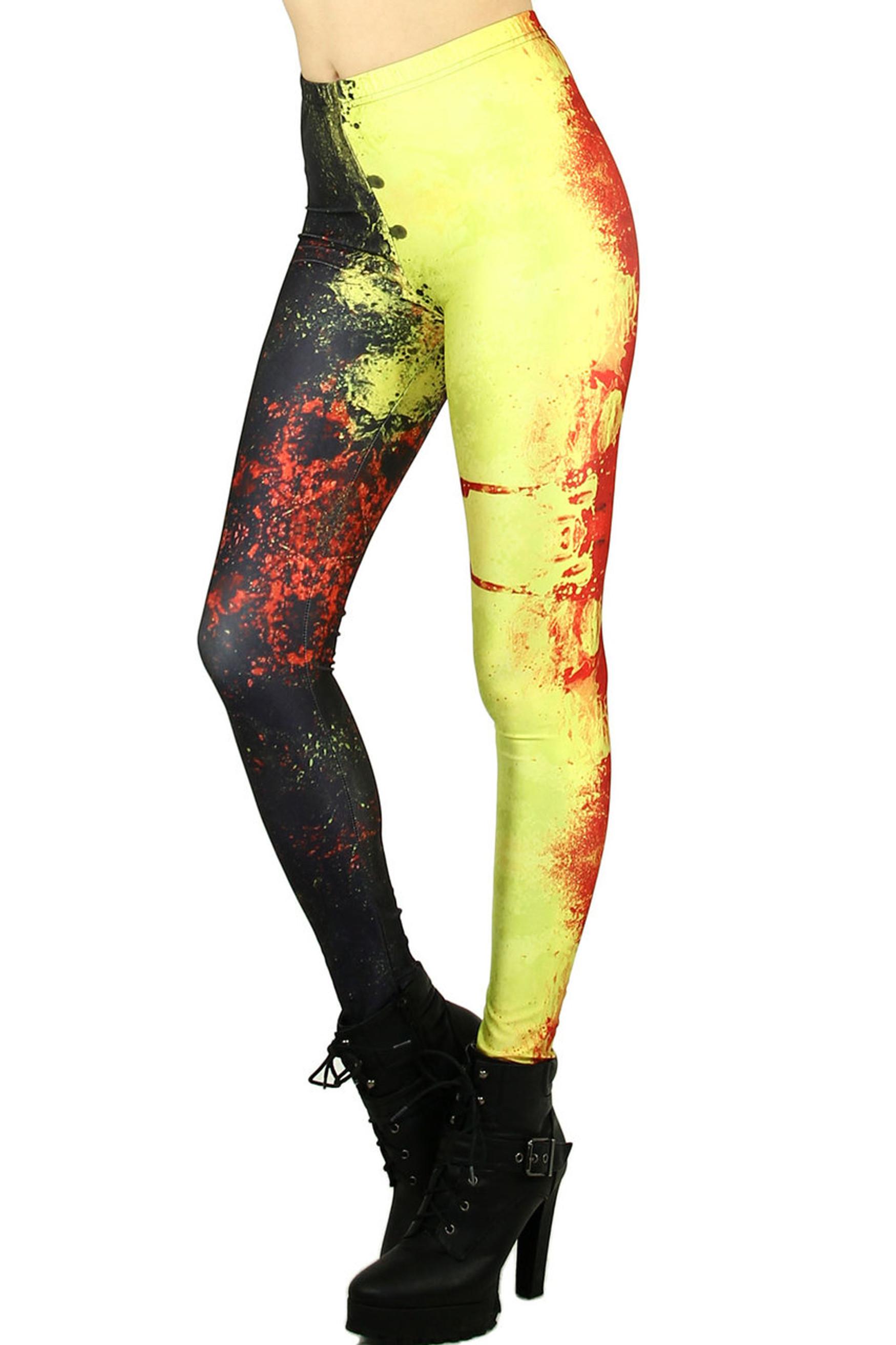Splattered Contrast Leggings