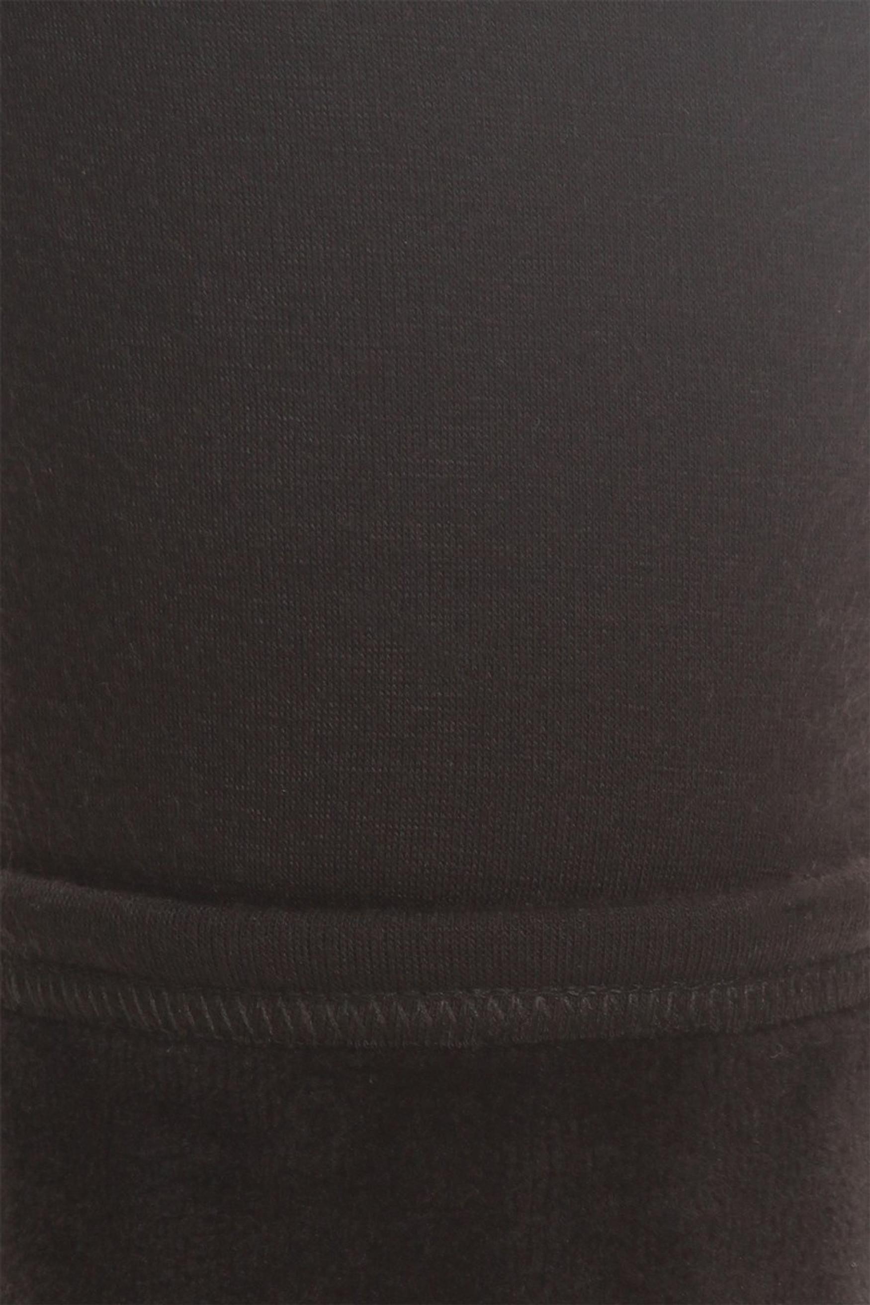 Solid Black Fur Lined Leggings - Plus Size