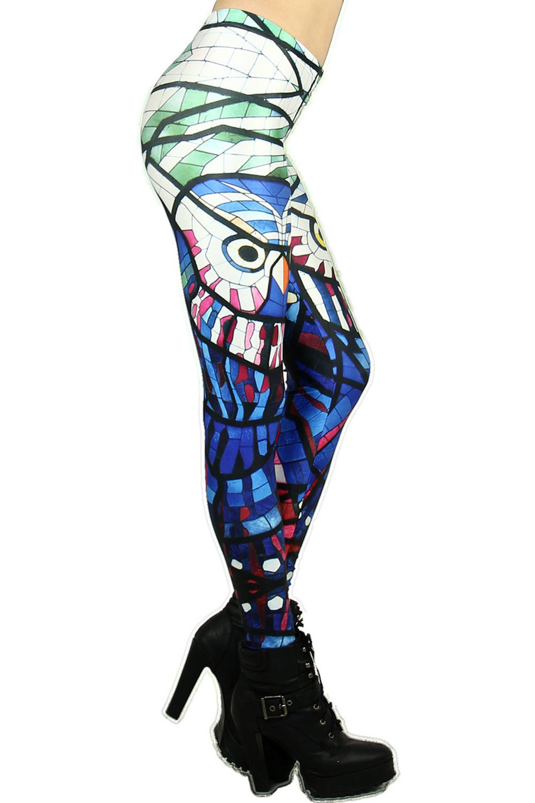 Colorful Mosaic Owl Leggings