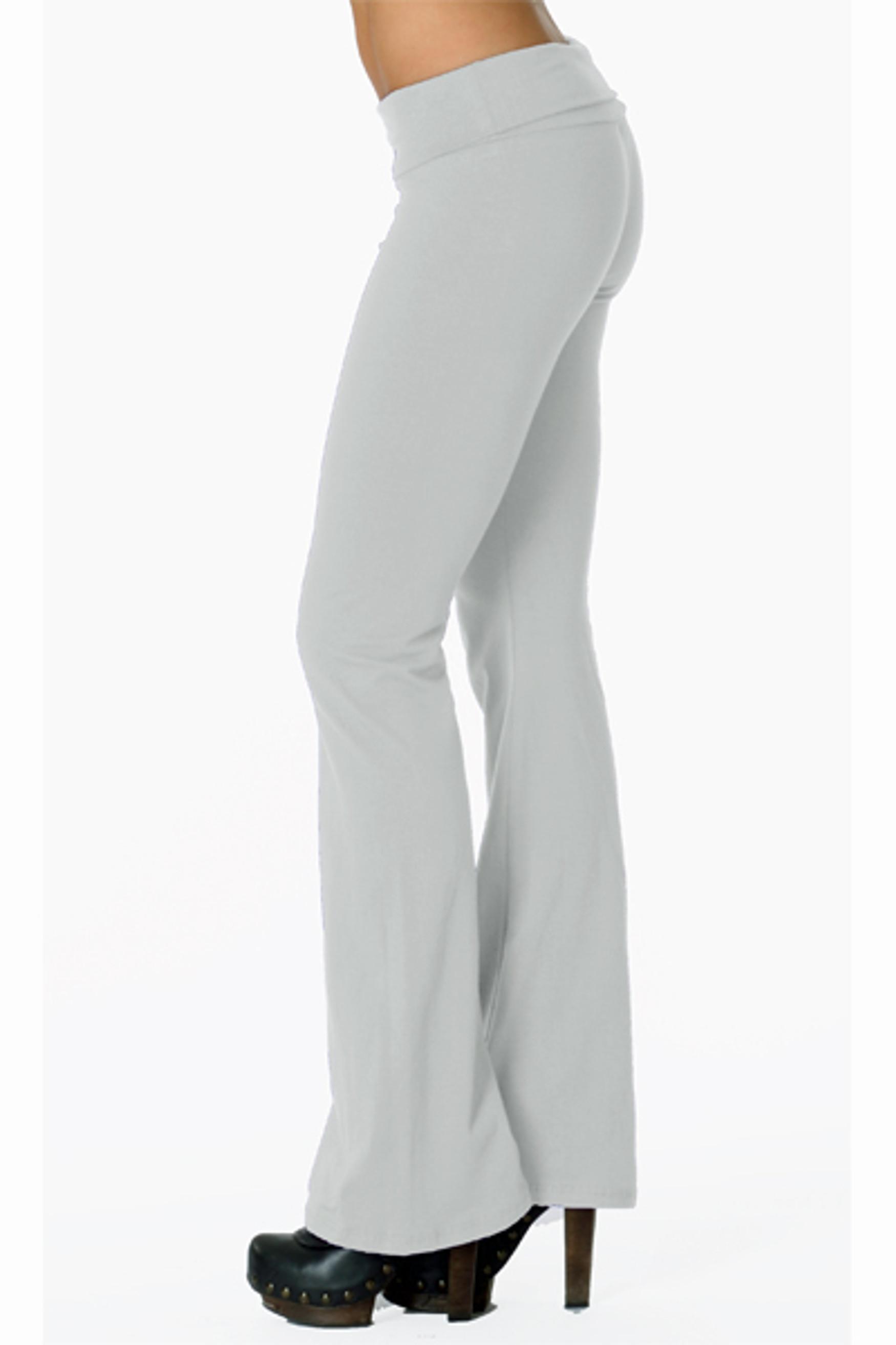 USA Cotton Solid Fold Over Leggings