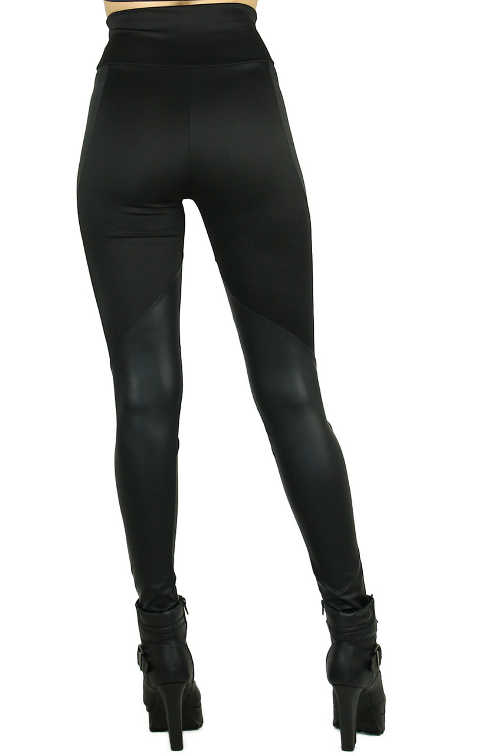 Chatelaine High Waisted Faux Leather Leggings