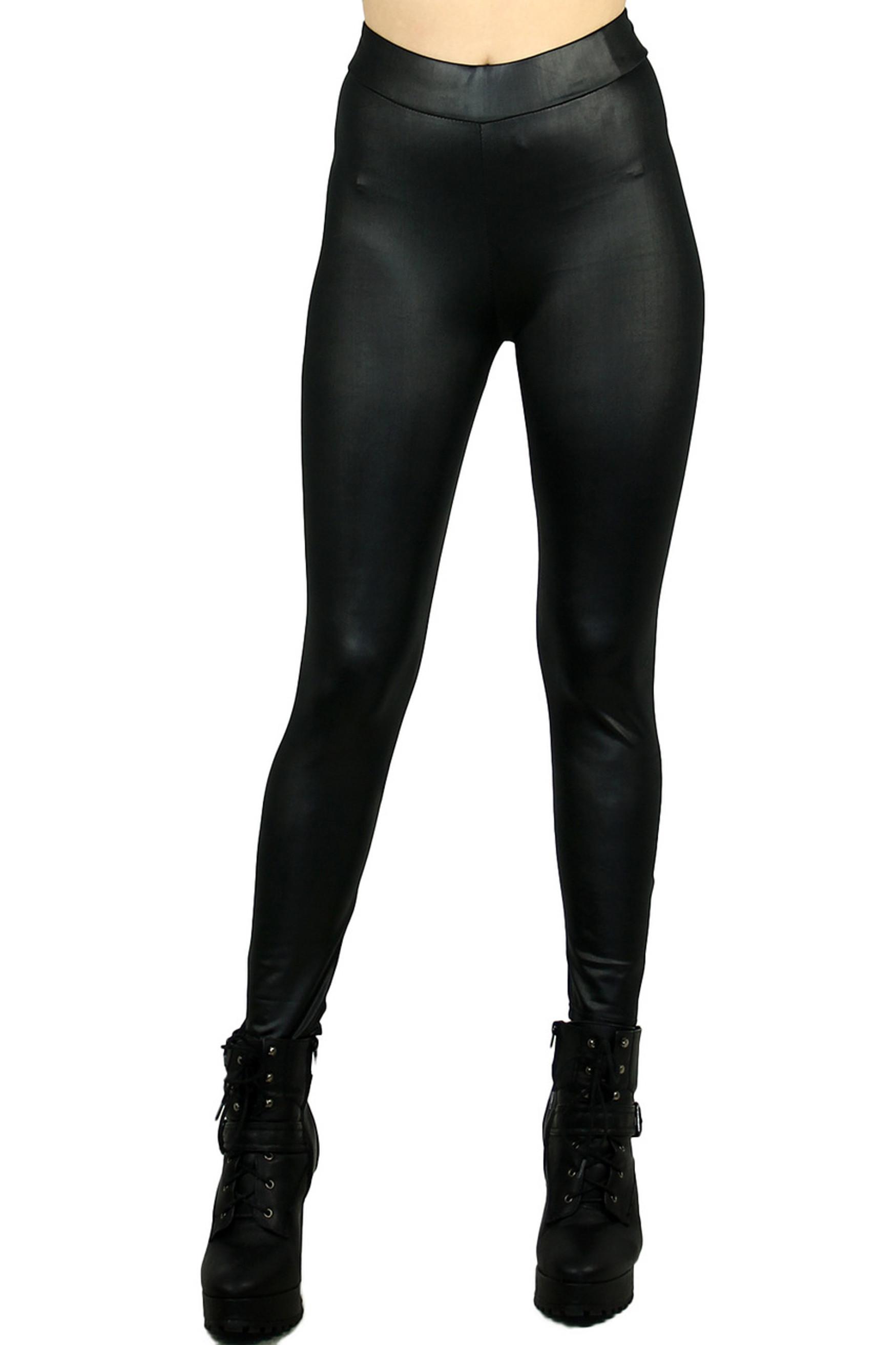 Black Matte Liquid Cotton Leggings