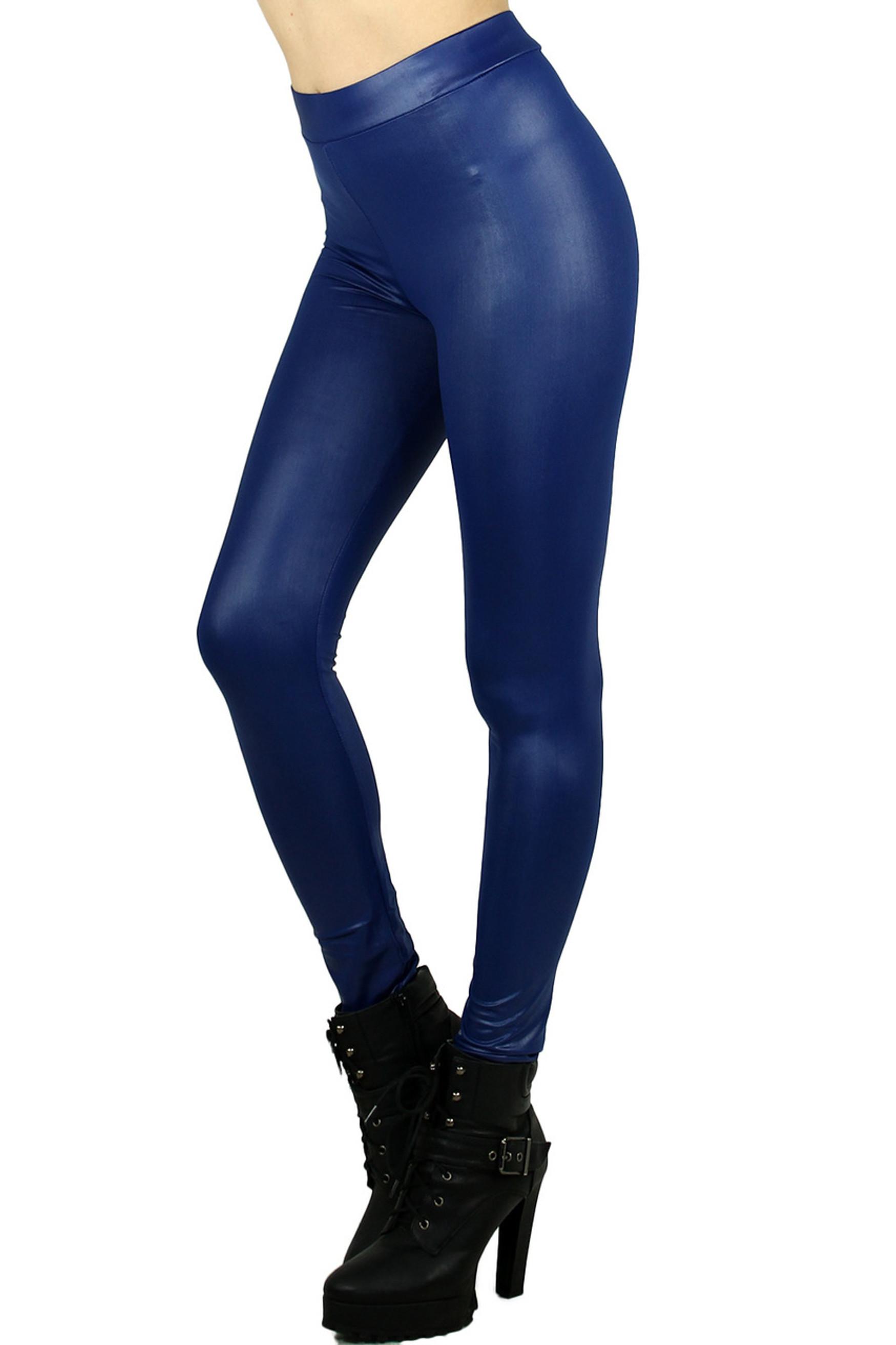 Blue Select Matte Liquid Cotton Leggings