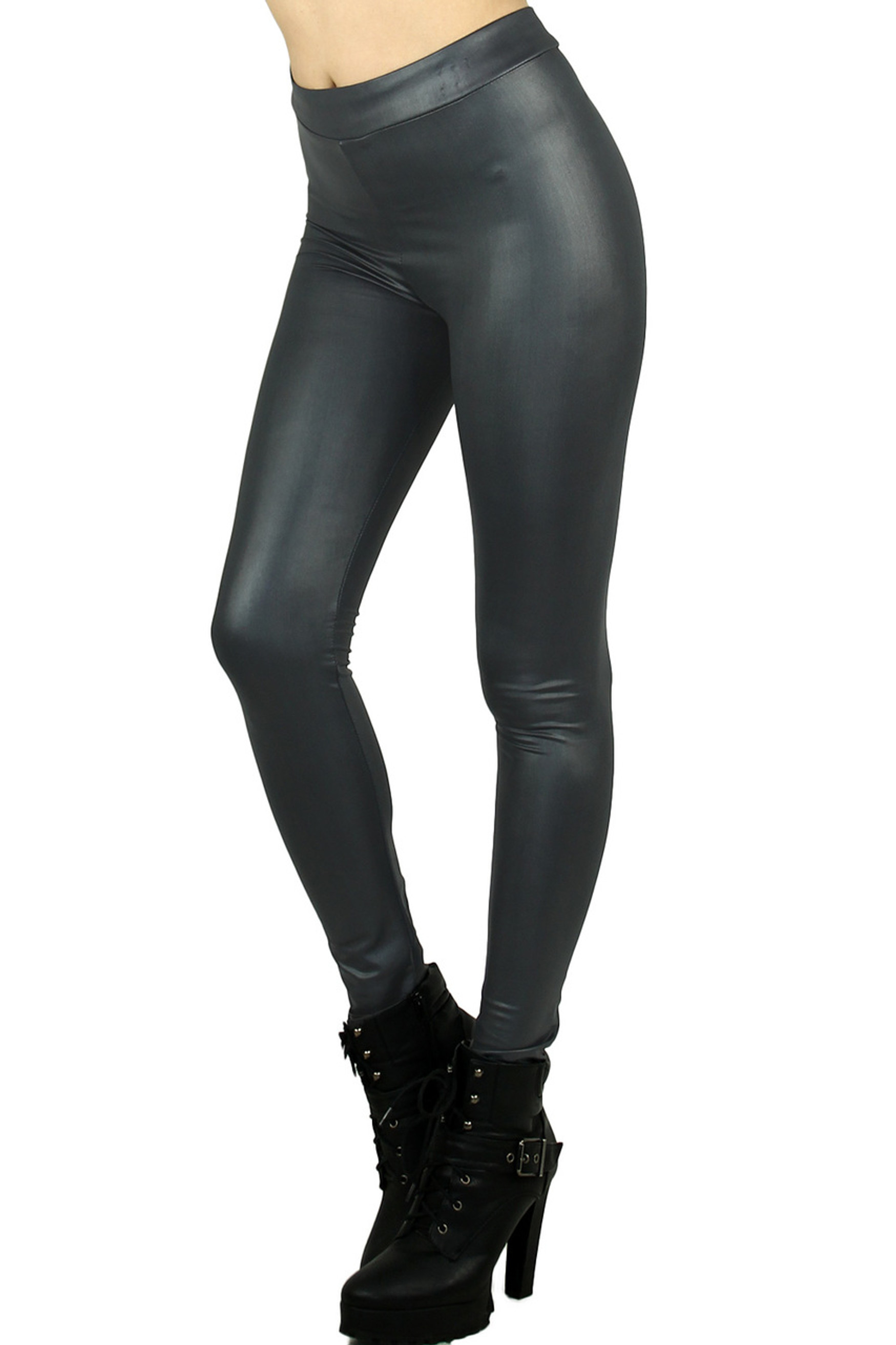 Charcoal Select Matte Liquid Cotton Leggings
