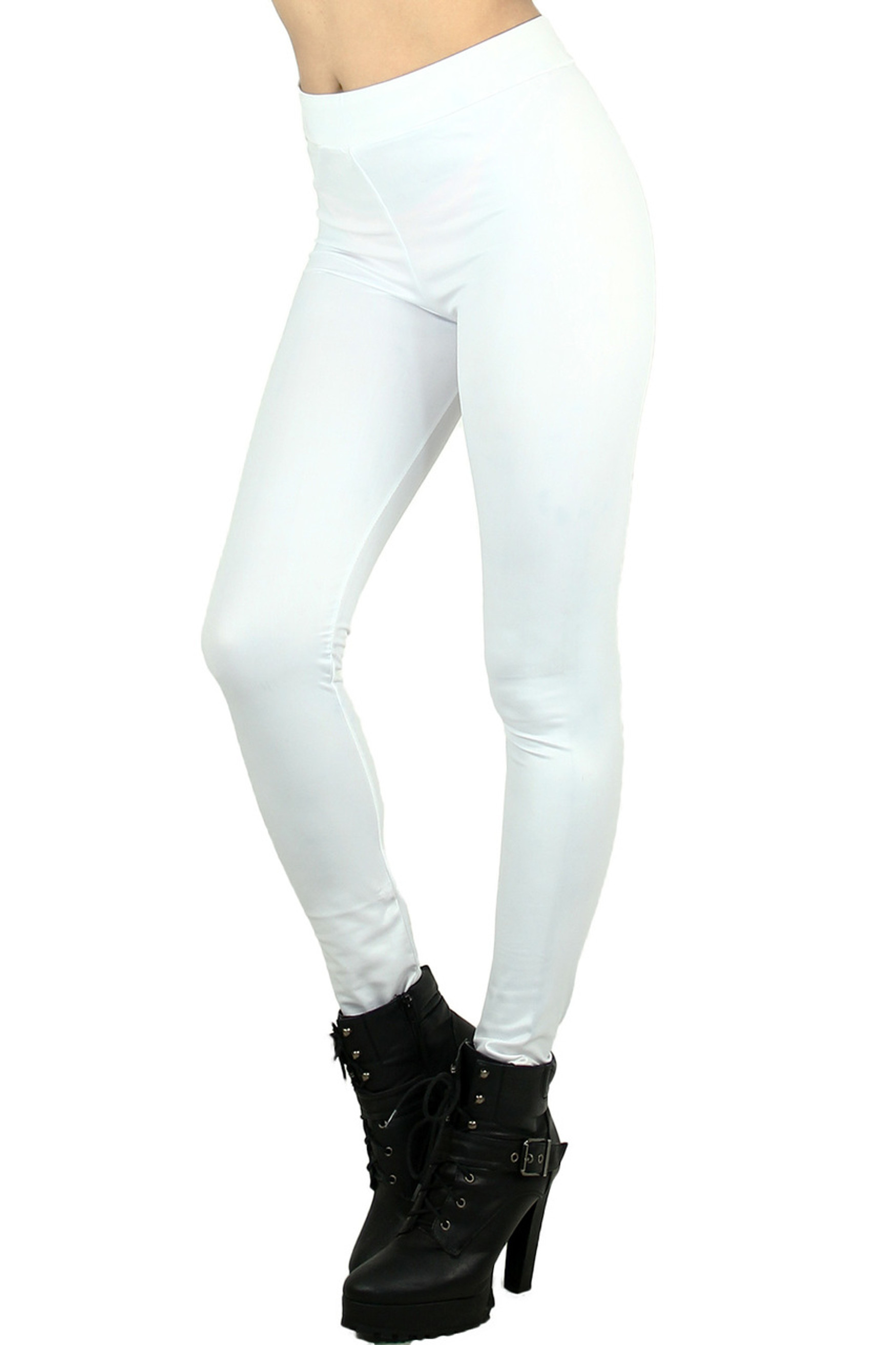White Select Matte Liquid Cotton Leggings