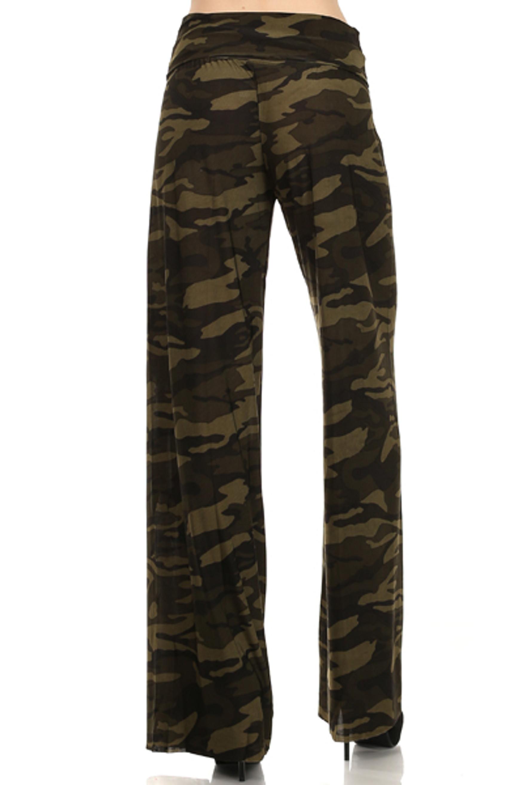 Camouflage Wide Leg Pants