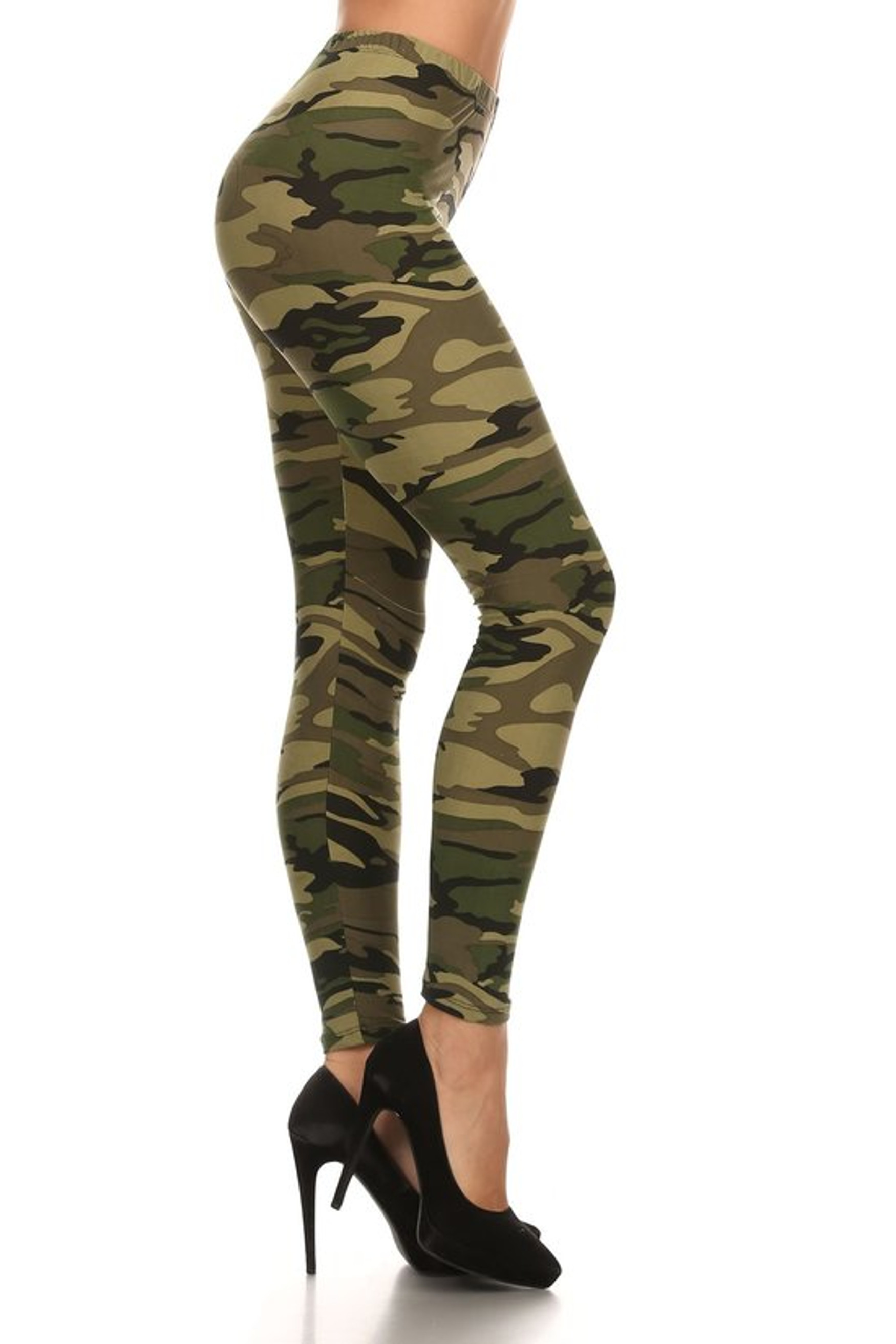 Green Camouflage Leggings