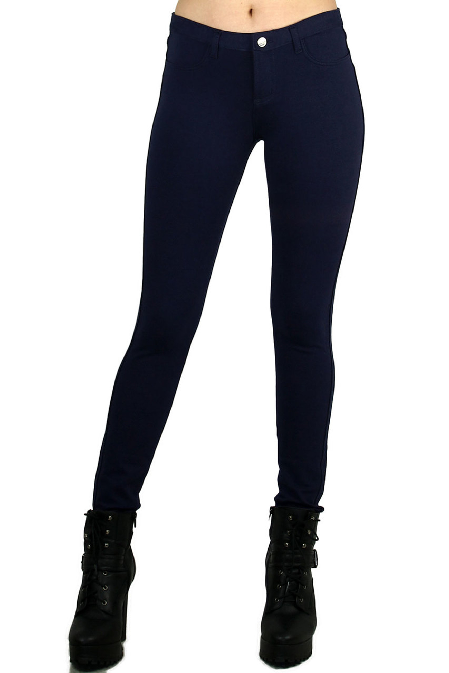 Signature Jean Cotton Leggings - Plus Size