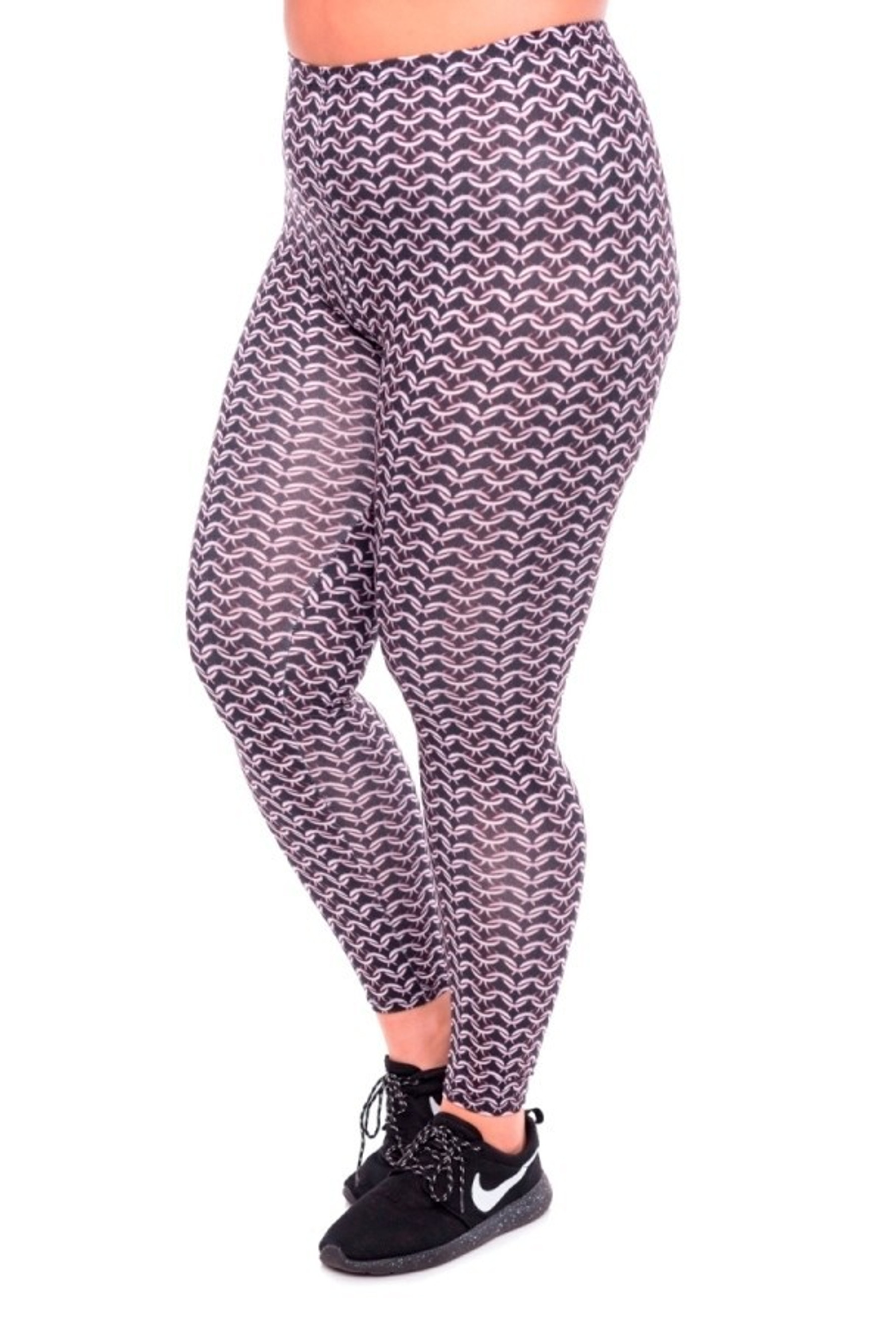 Chain Mail Leggings - Plus Size