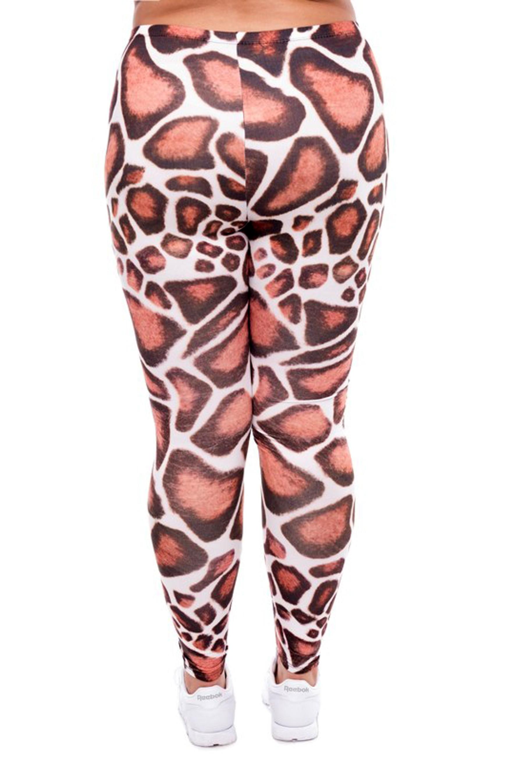 Giraffe Print Leggings - Plus Size