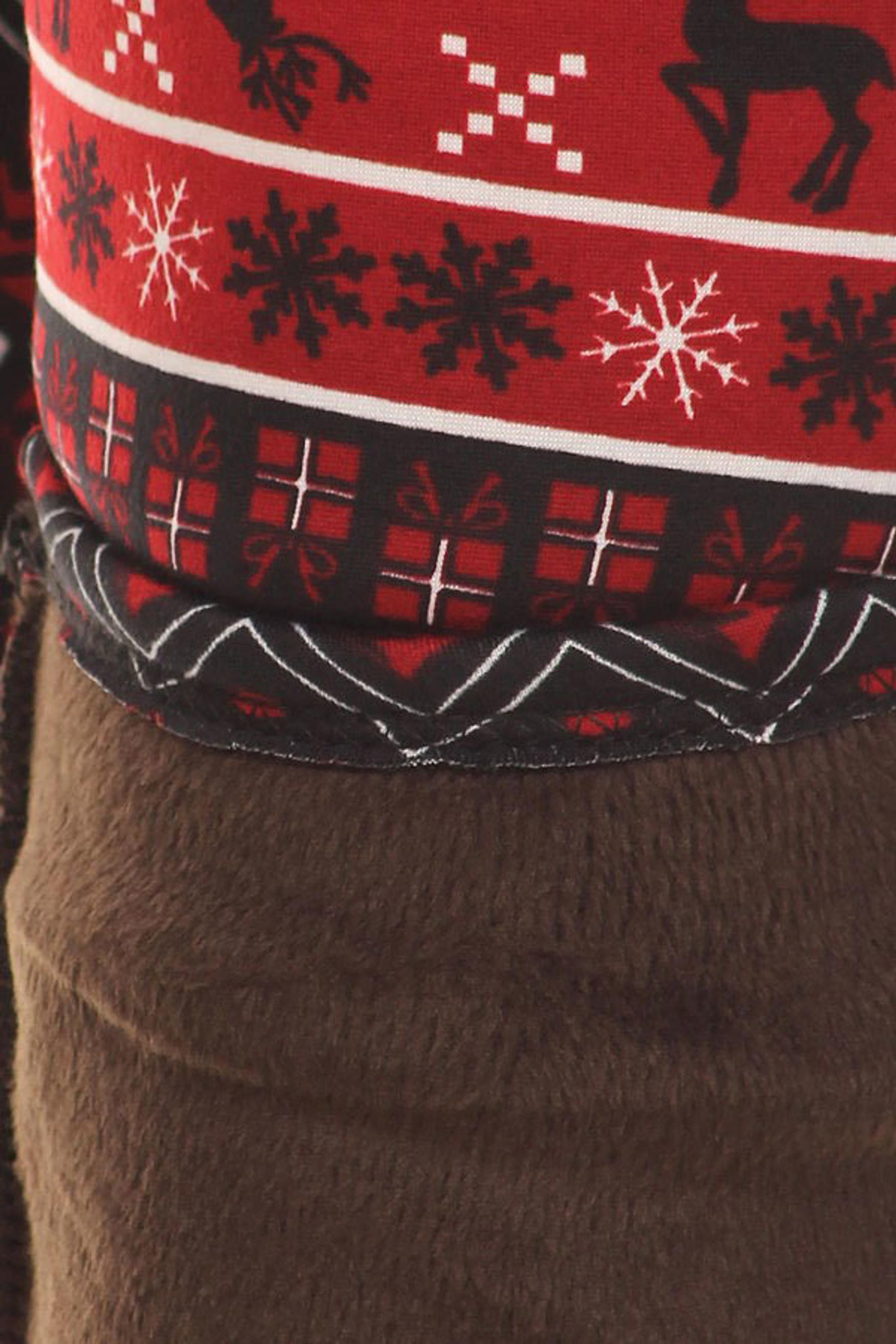 Dancing Ruby Reindeer Fur Lined Plus Size Leggings