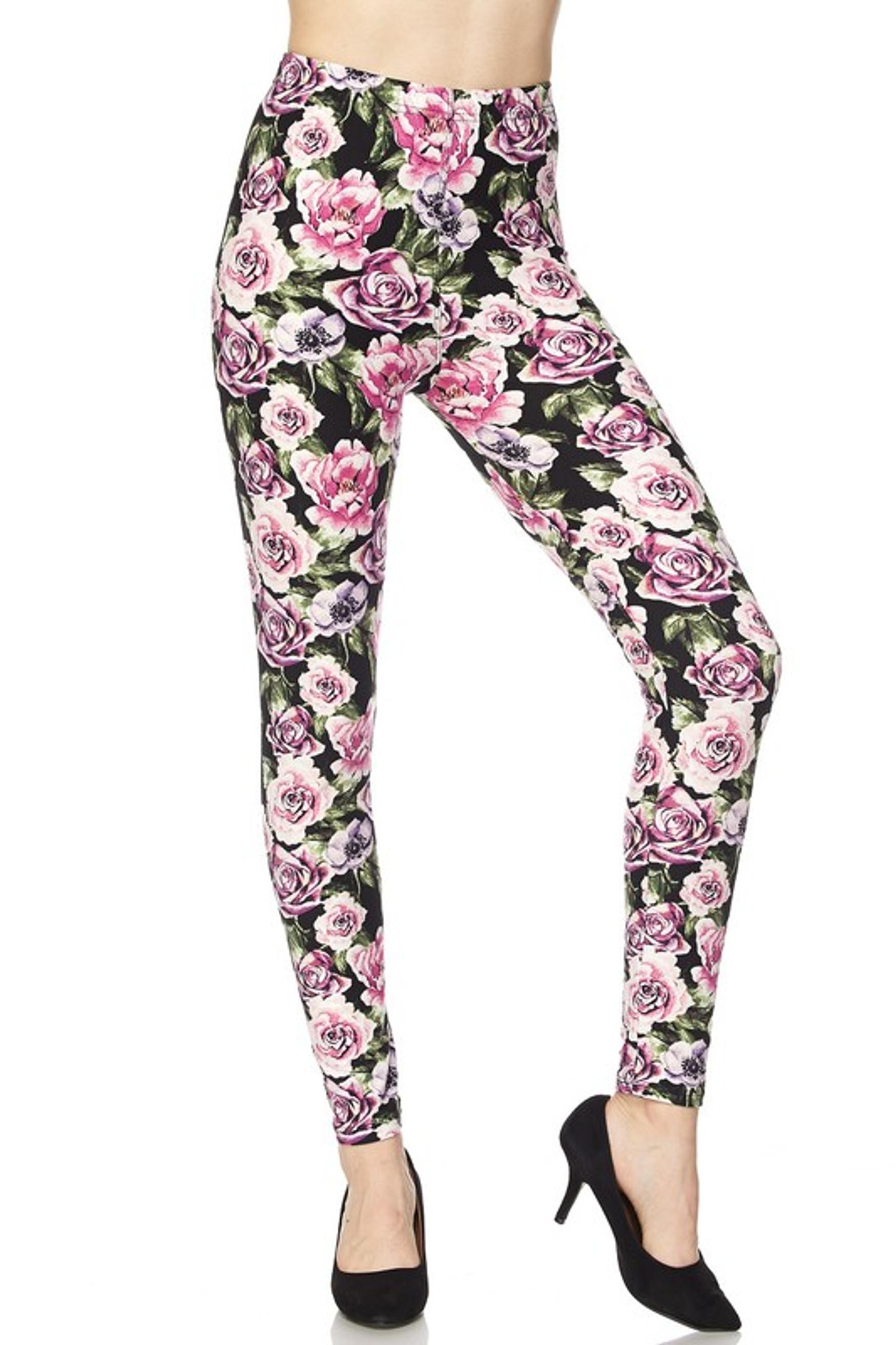 Rustic Pink Rose Leggings