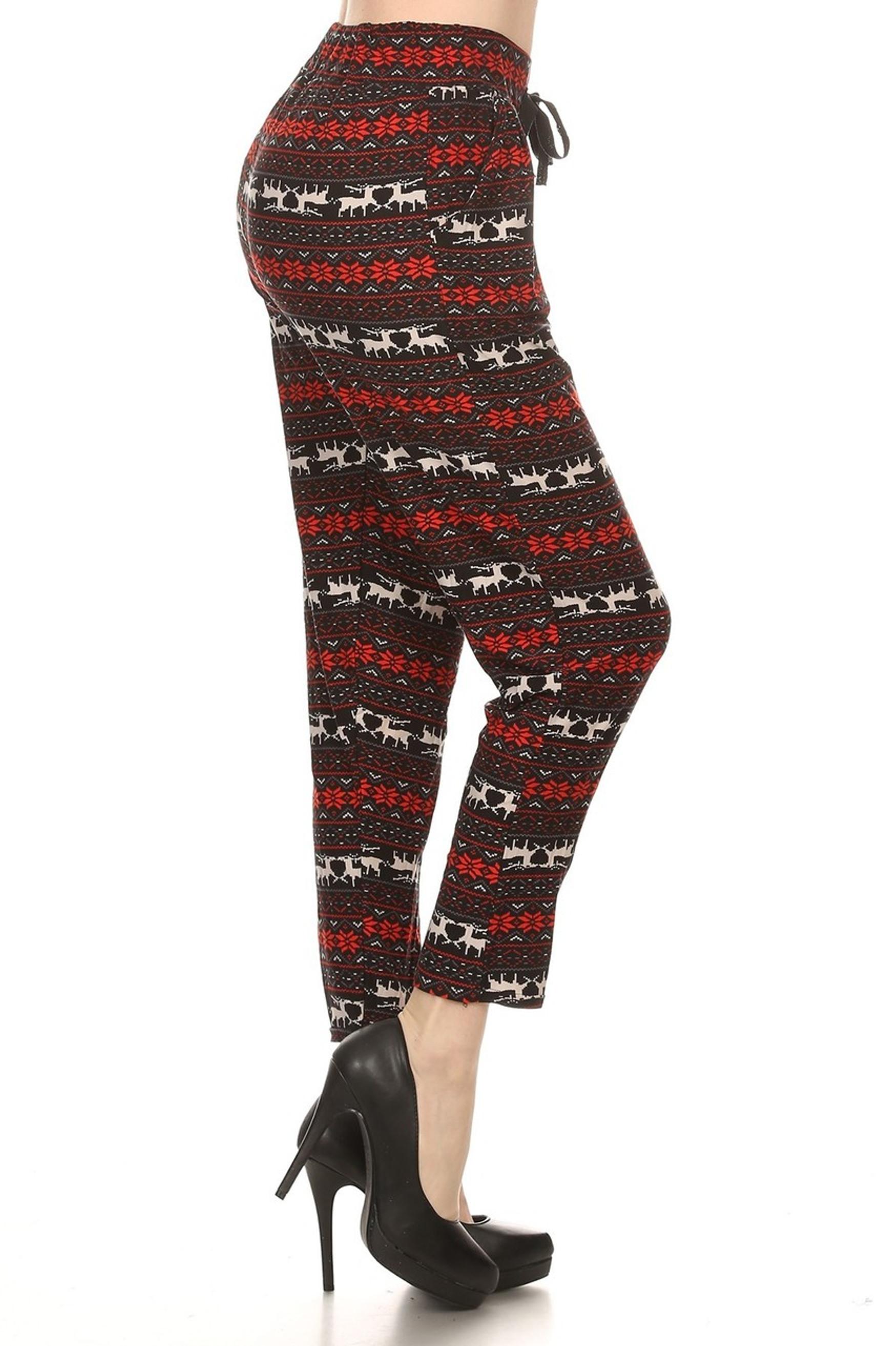 Reindeer Harem Leggings