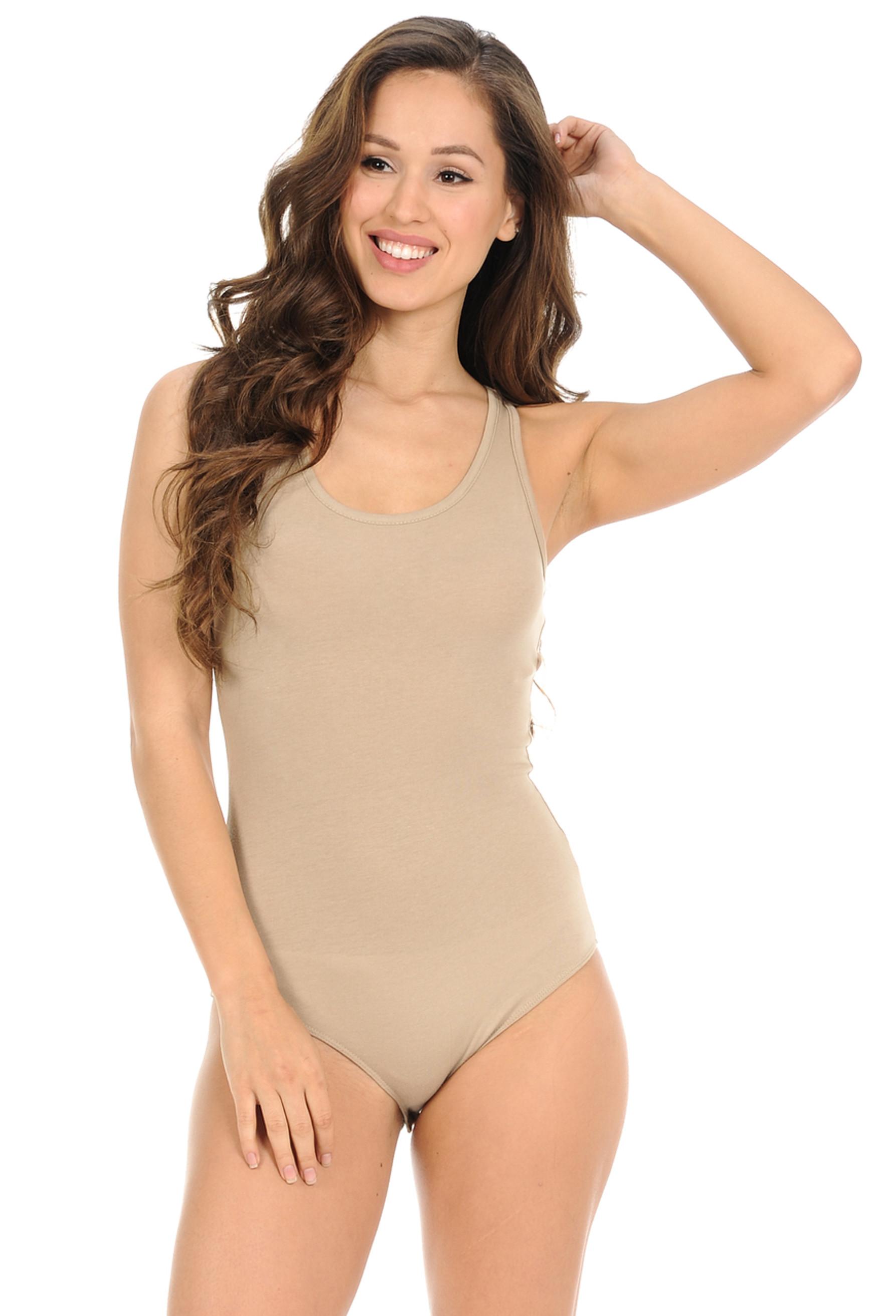 Basic Scoop Neck Cotton Bodysuit