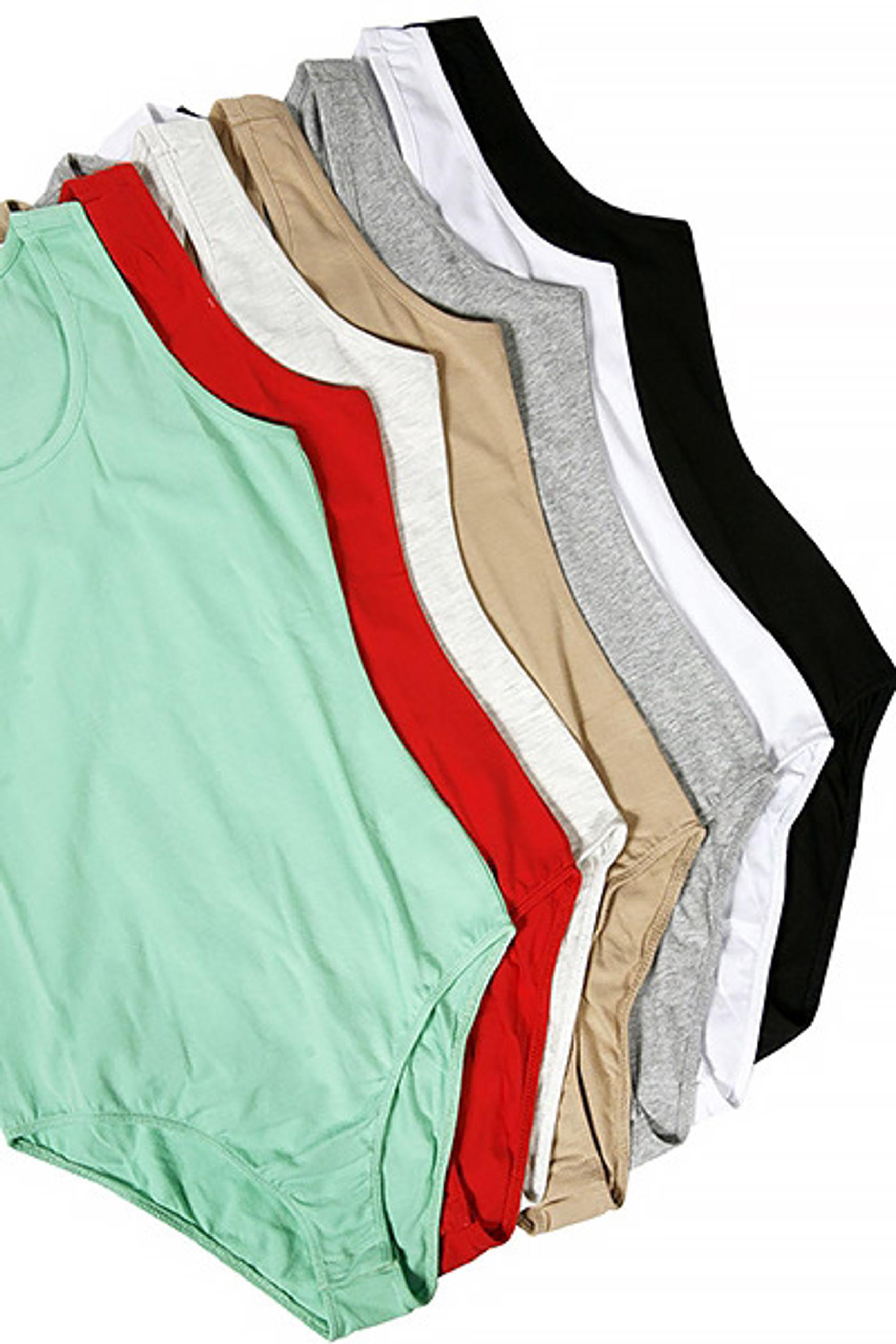 Spaghetti Strap Basic Cotton Bodysuit