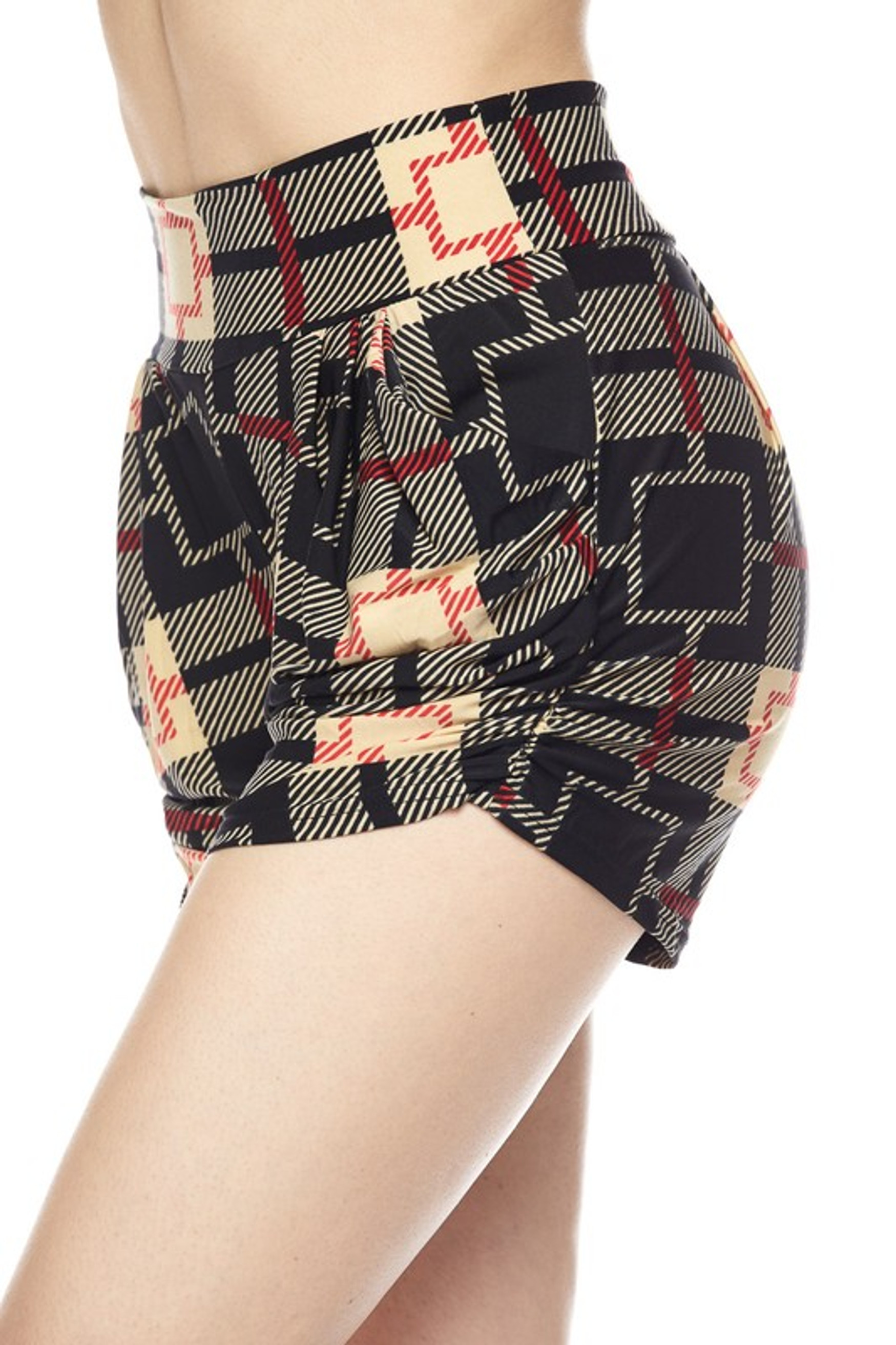 Moda Squares Harem Shorts