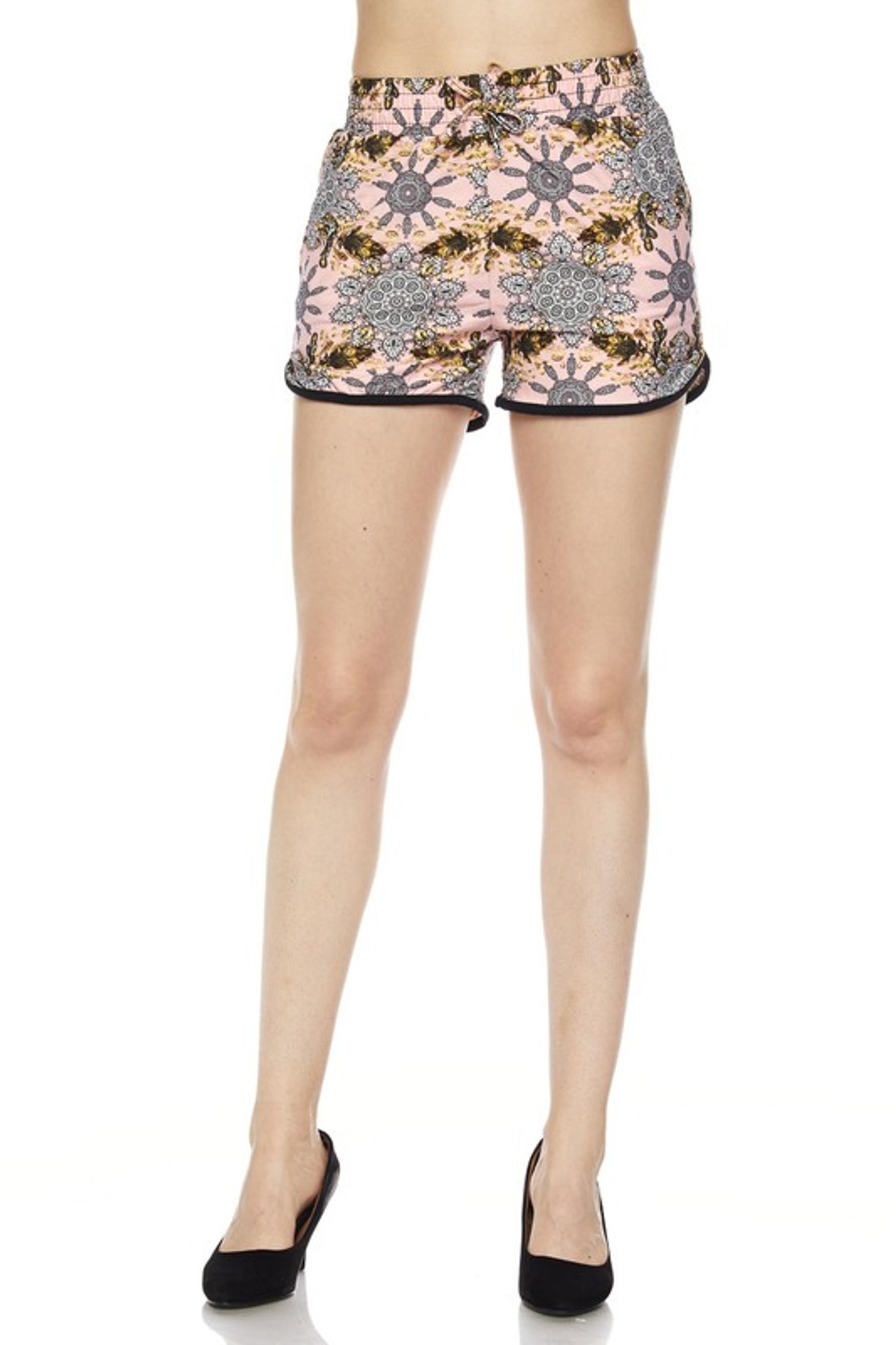 Gorgeous Pink Motif Dolphin Shorts