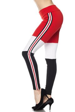 Sexy High Waisted Tri-Color Fashion Sport Leggings