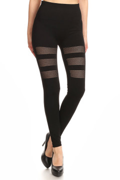 Premium Tri Thigh Mesh Seamless Leggings