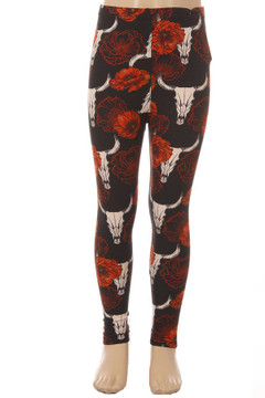 Brushed Longhorn Kids Leggings